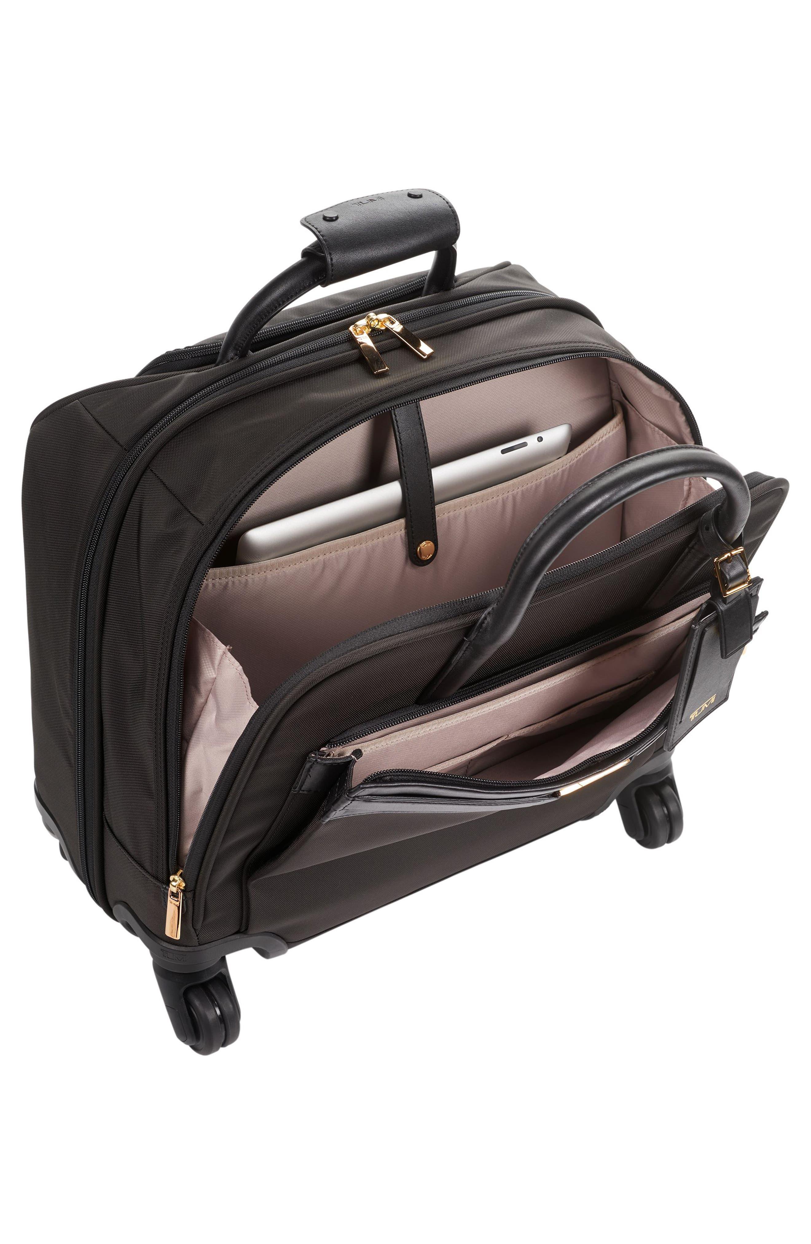 Larkin - Shannon 11-Inch Compact Nylon Wheeled Carry-On,                             Alternate thumbnail 4, color,                             Black