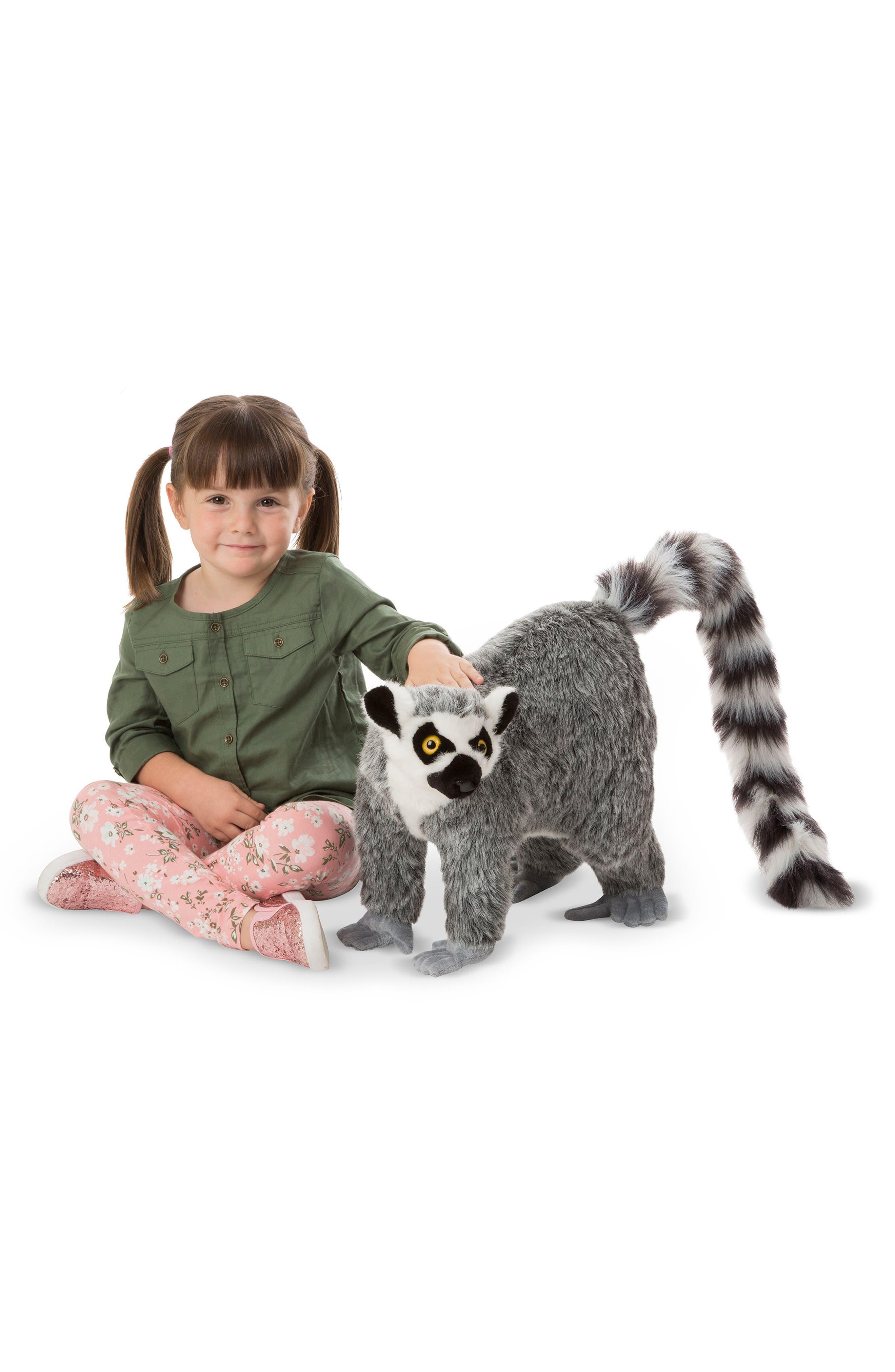 Lemur Stuffed Animal,                             Alternate thumbnail 4, color,                             Grey Multi