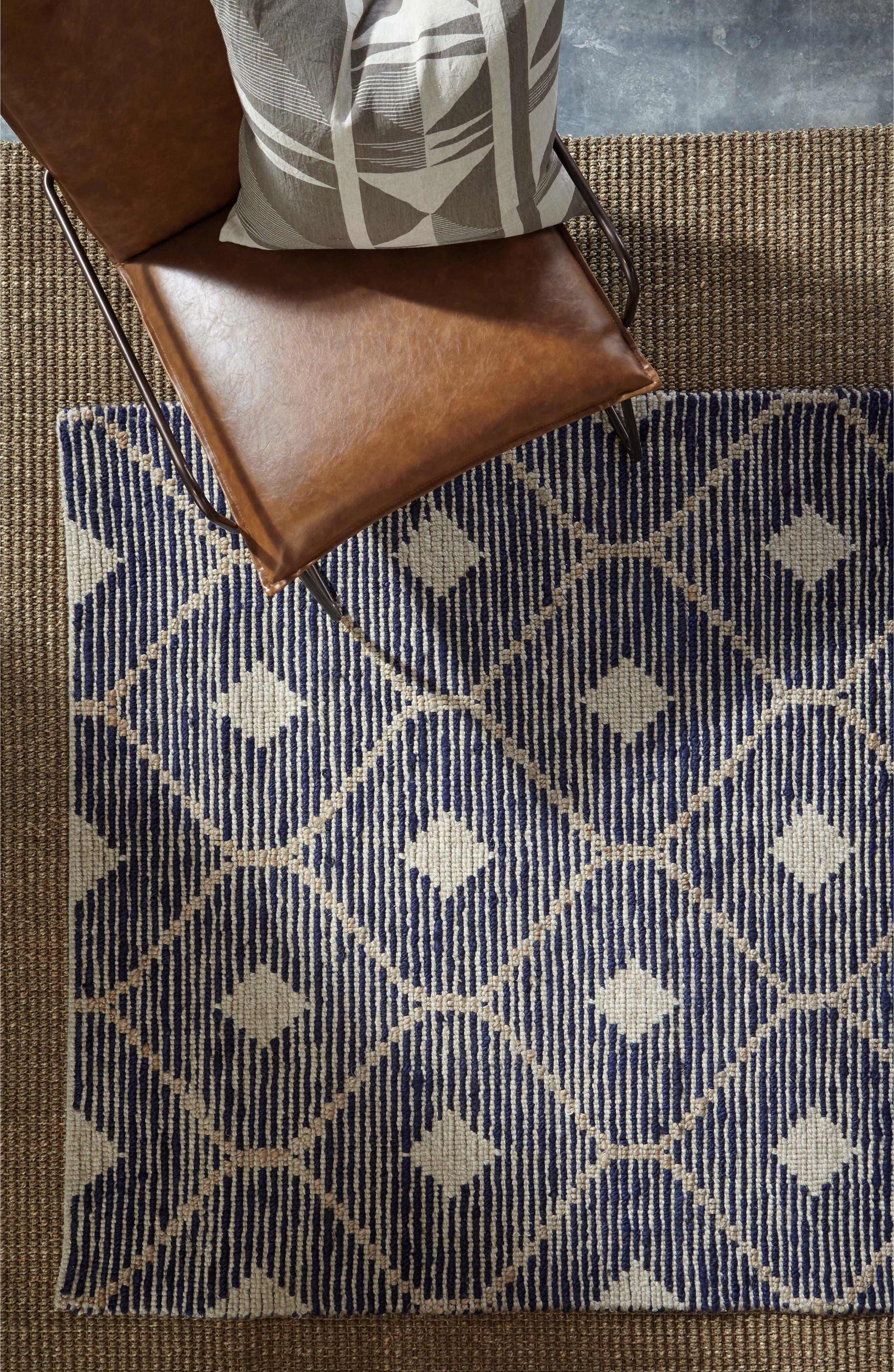 Rustica Handwoven Rug,                             Alternate thumbnail 4, color,                             Indigo
