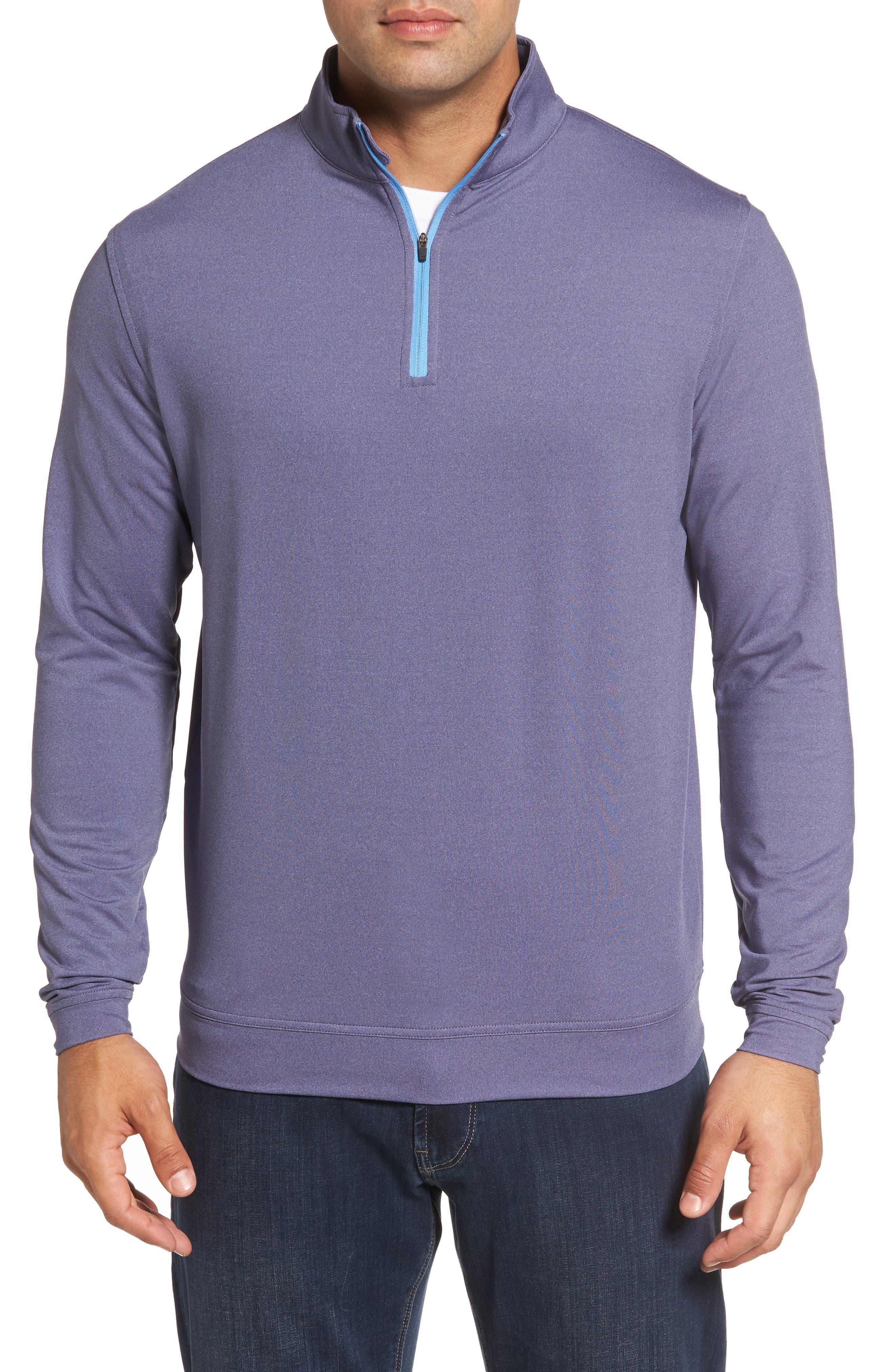 Perth Quarter Zip Stretch Pullover,                             Main thumbnail 1, color,                             Blackberry