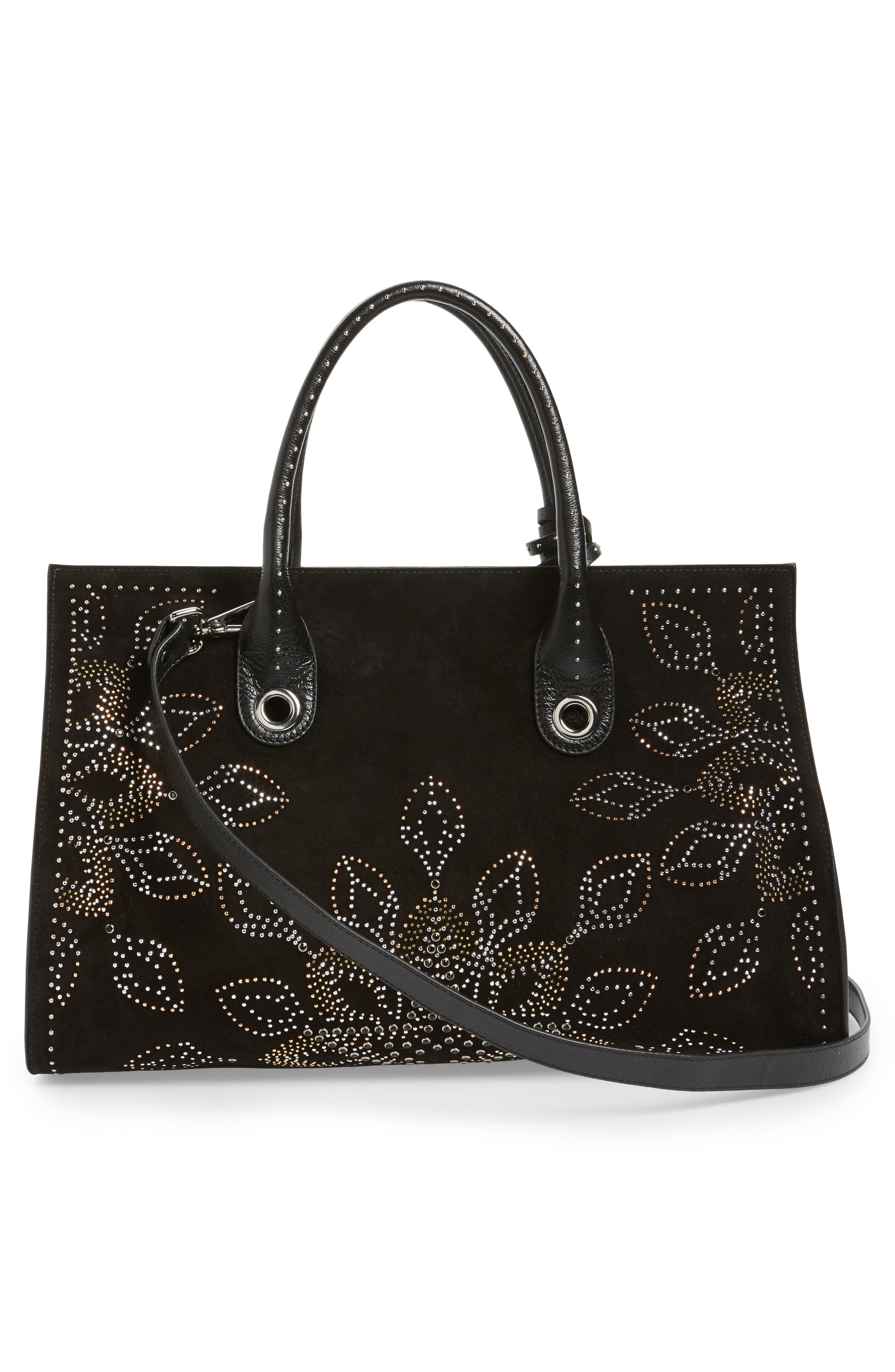 Alternate Image 2  - Jimmy Choo Riley Micro Studded Leather Tote