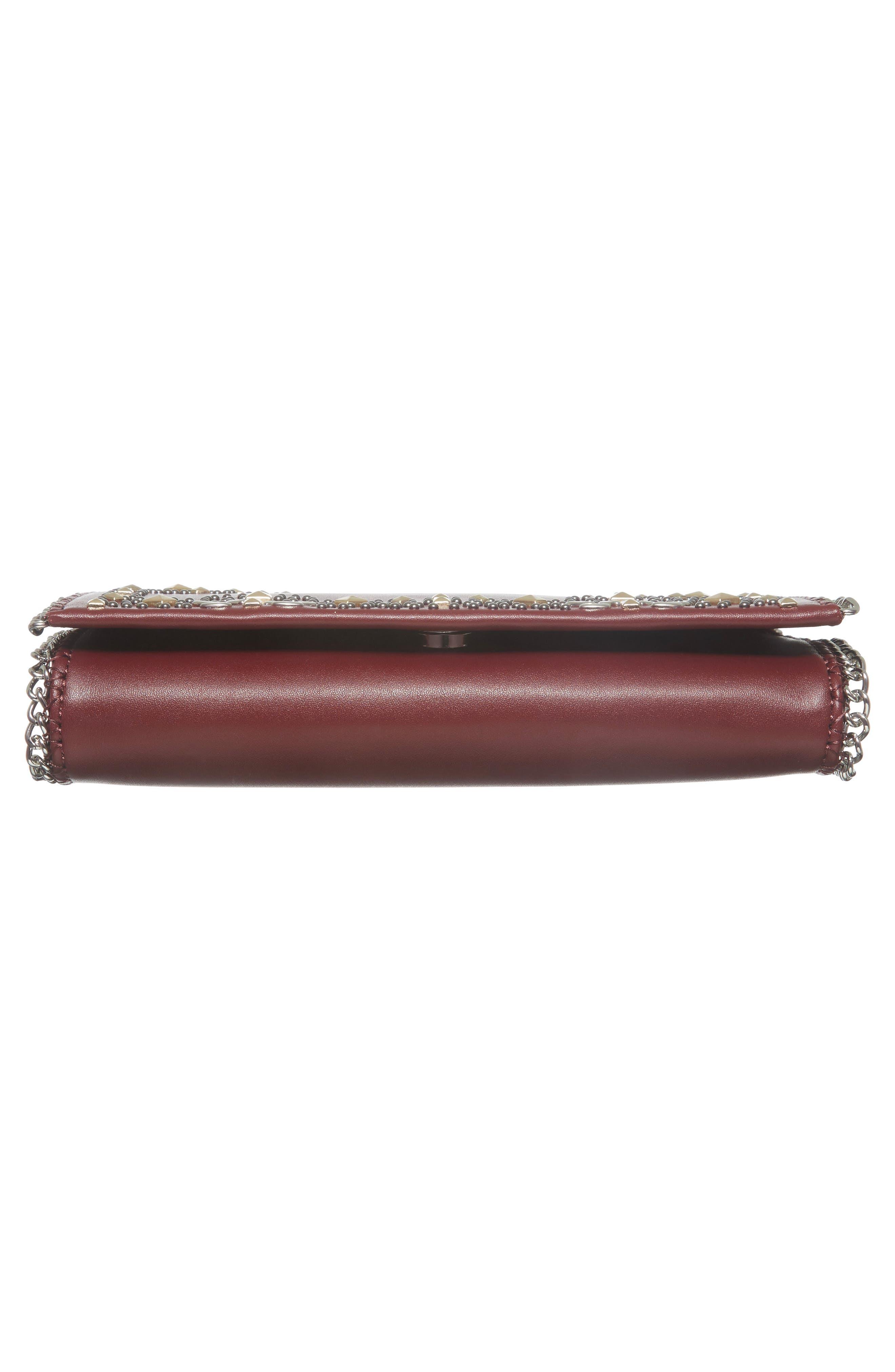 Alternate Image 5  - Chelsea28 Fleur Studded Faux Leather Convertible Clutch