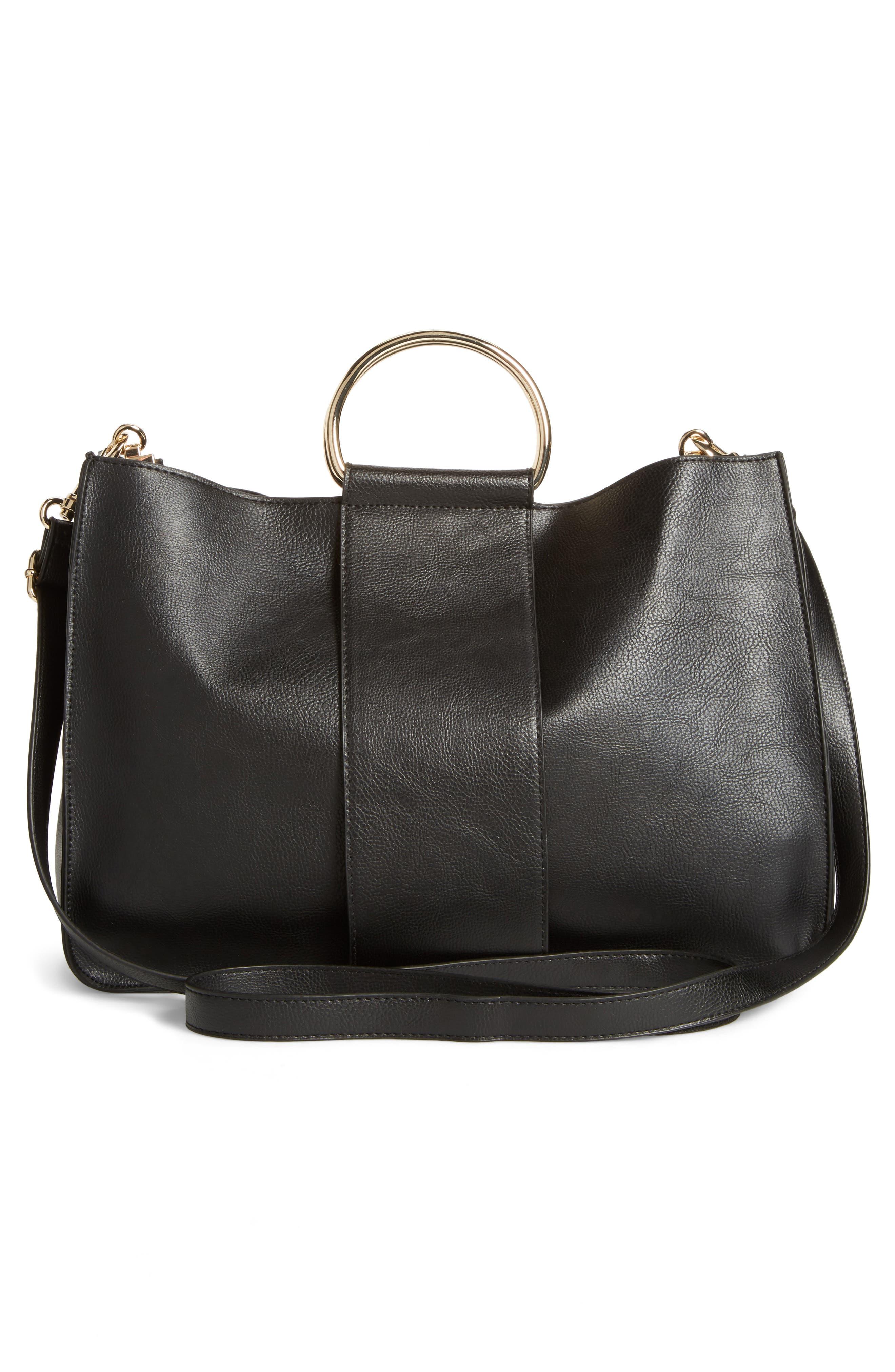 Alternate Image 2  - BP. Metal Handle Faux Leather Satchel