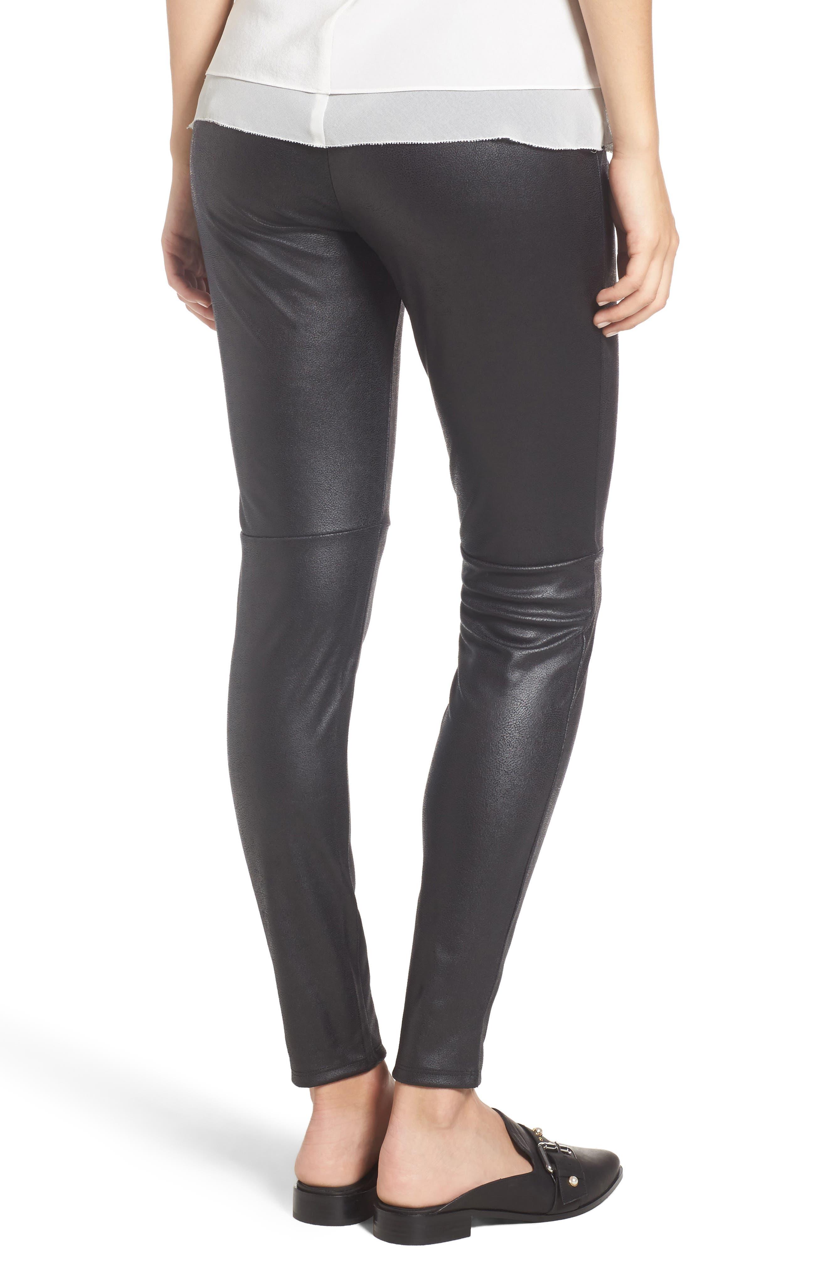 Alternate Image 3  - Trouvé High Waist Faux Leather Leggings