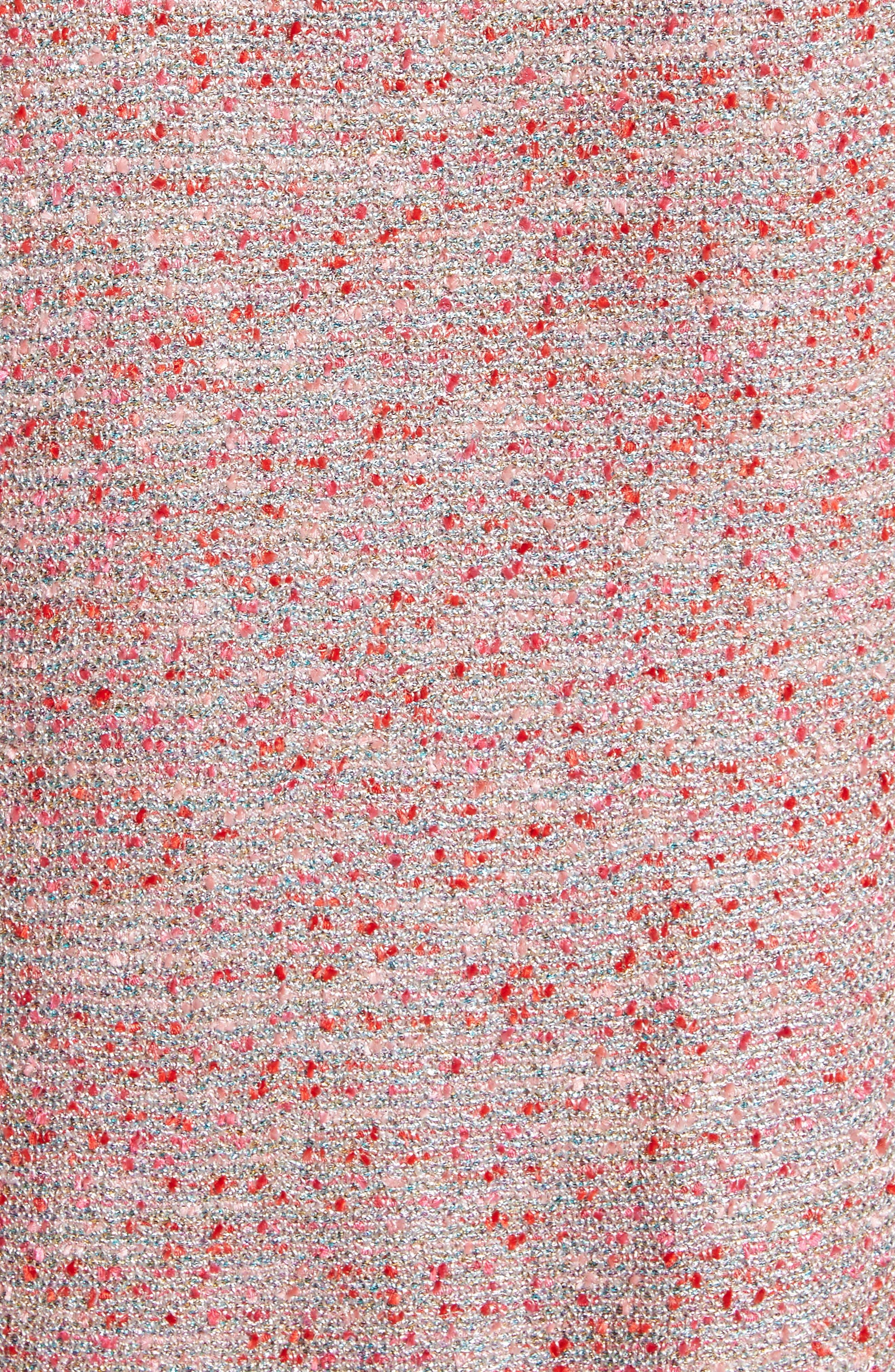 Metallic Tweed Jacket,                             Alternate thumbnail 6, color,                             Rosa Multi