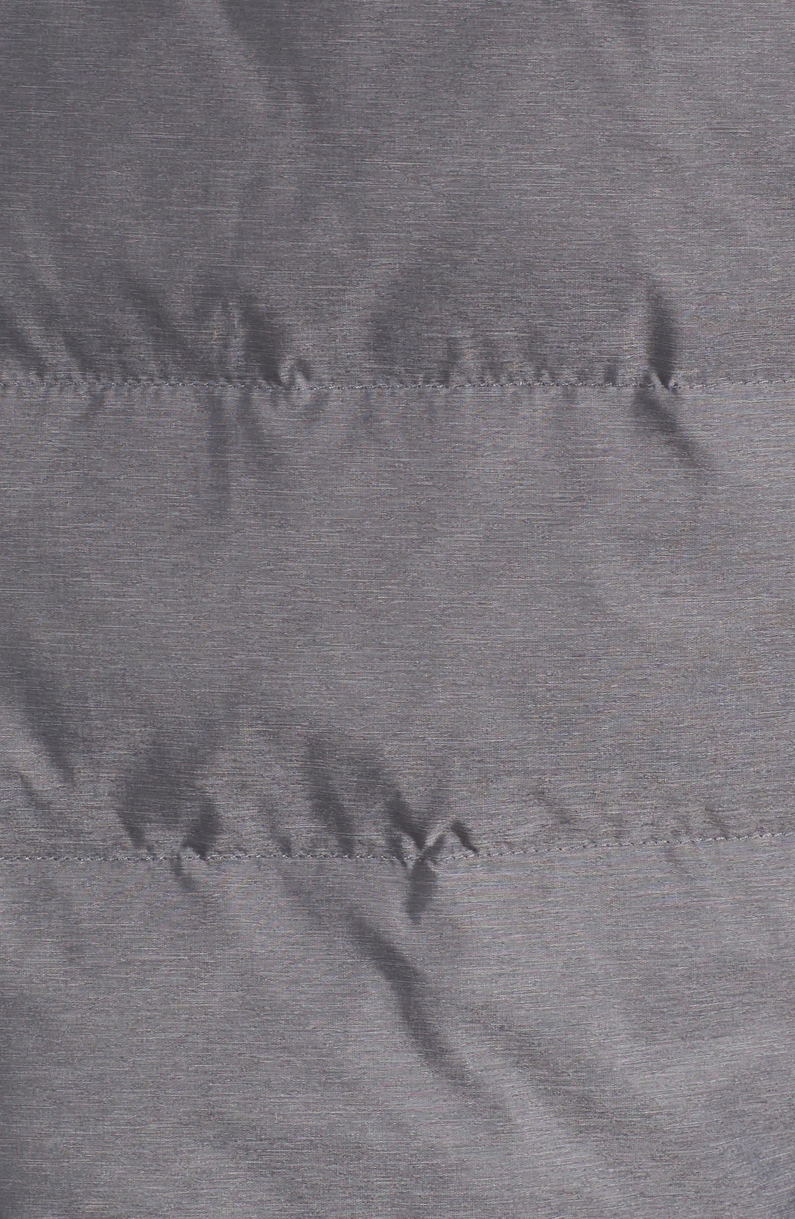 Stand Collar Vest,                             Alternate thumbnail 5, color,                             Ash