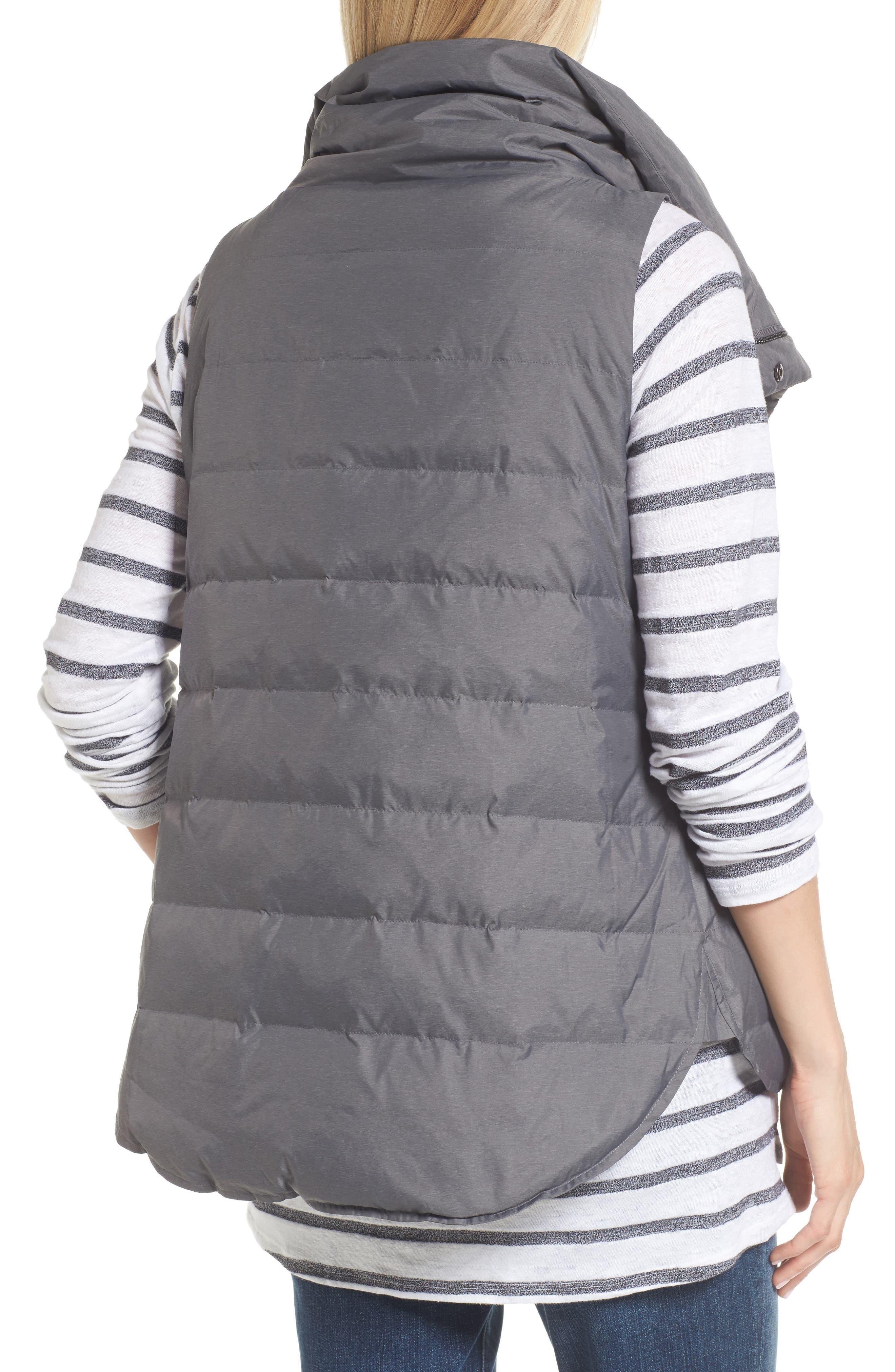 Stand Collar Vest,                             Alternate thumbnail 2, color,                             Ash
