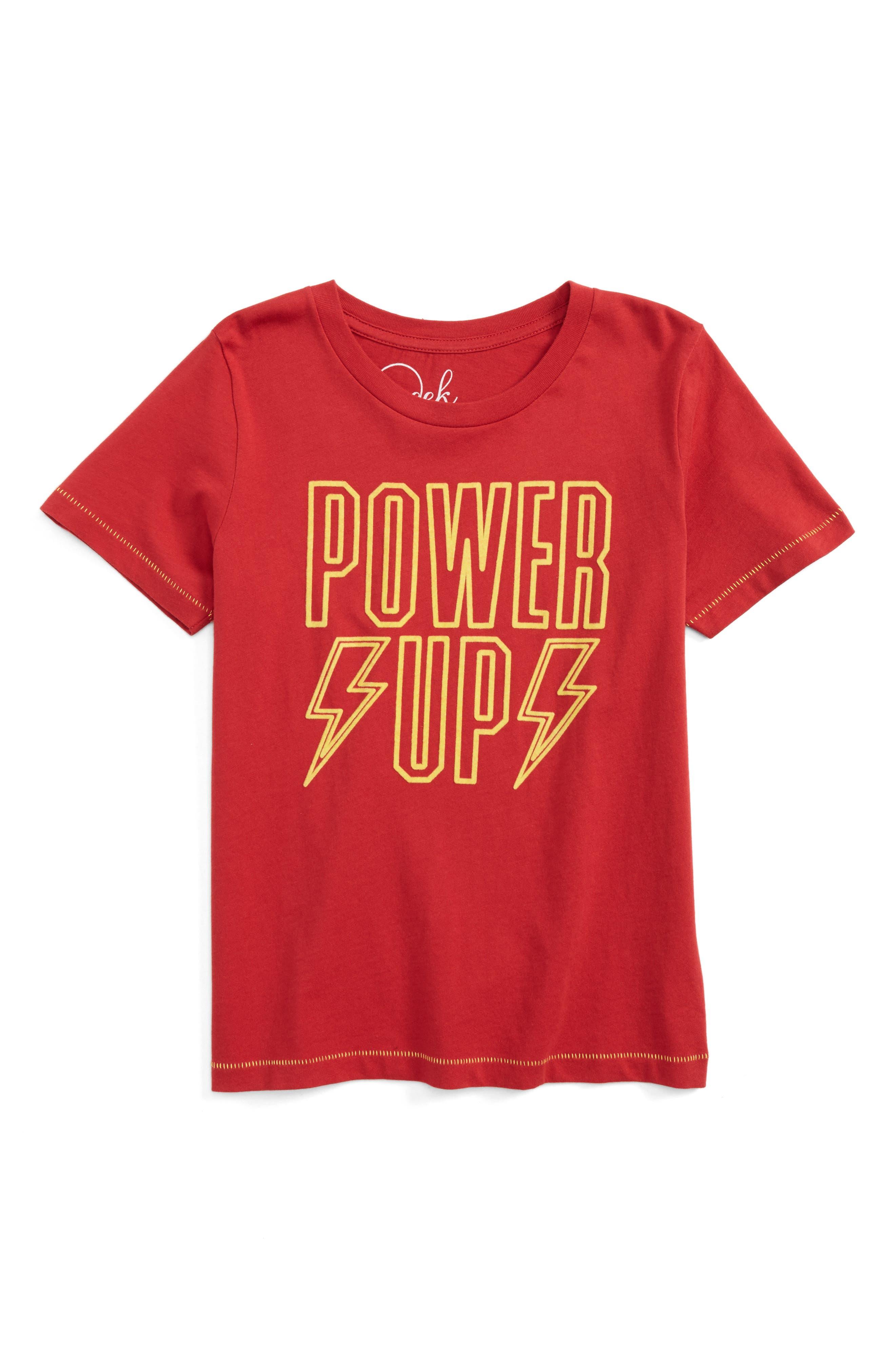 Alternate Image 1 Selected - Peek Power Up T-Shirt (Toddler Boys, Little Boys & Big Boys)