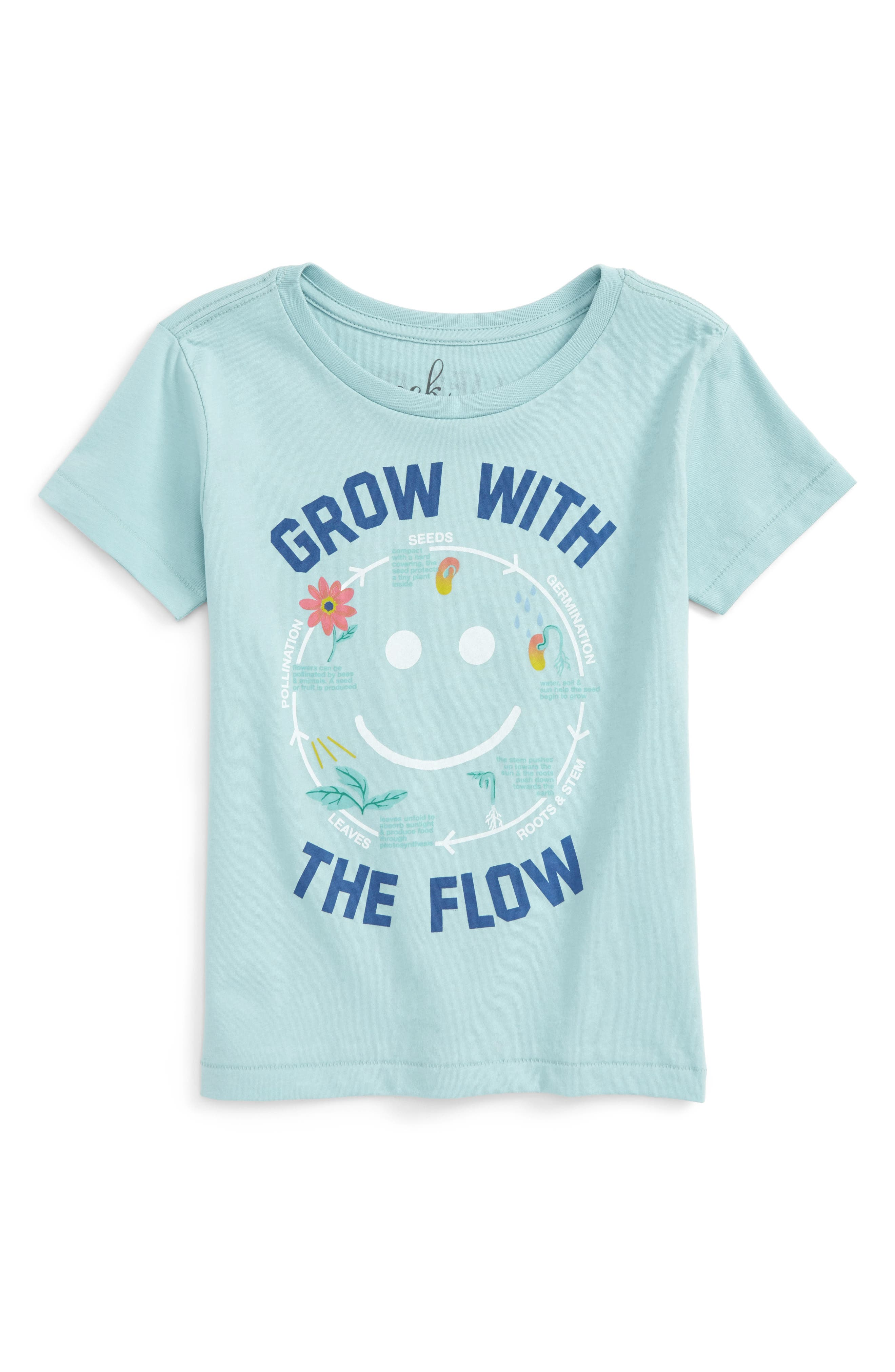 Main Image - Peek Grow with the Flow Graphic Tee (Toddler Girls, Little Girls & Big Girls)