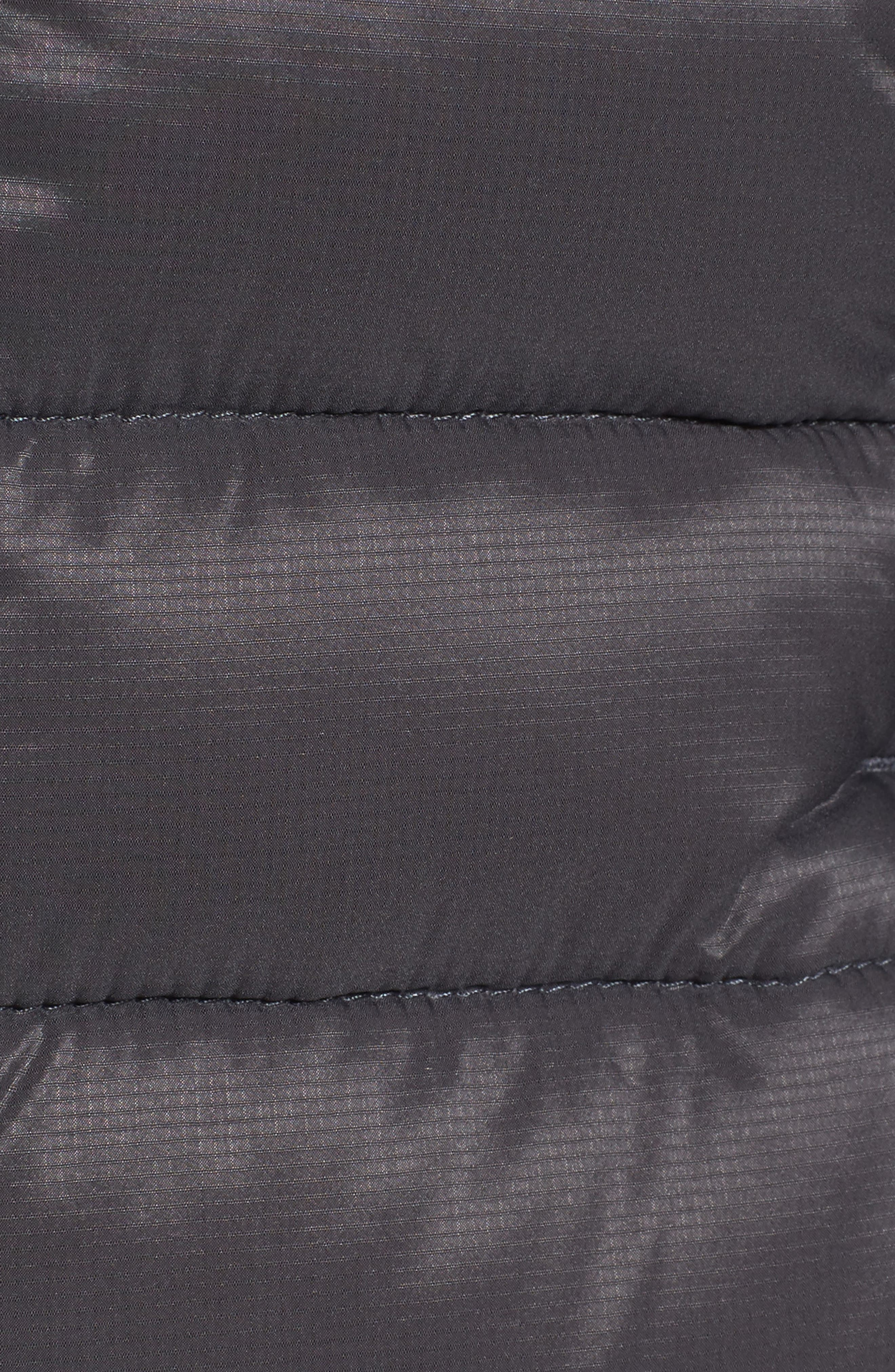 'Brookvale' Packable Hooded Quilted Down Jacket,                             Alternate thumbnail 6, color,                             Graphite/ Black