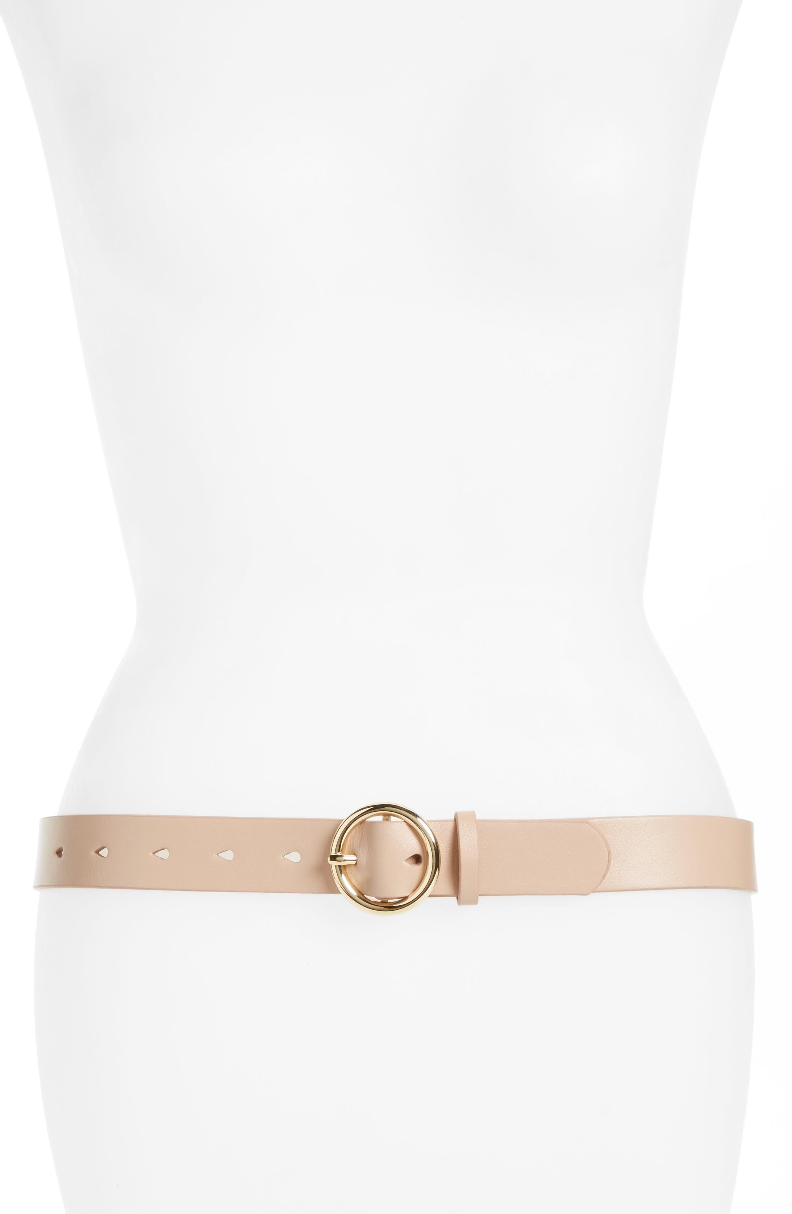Halogen® Faux Leather Belt