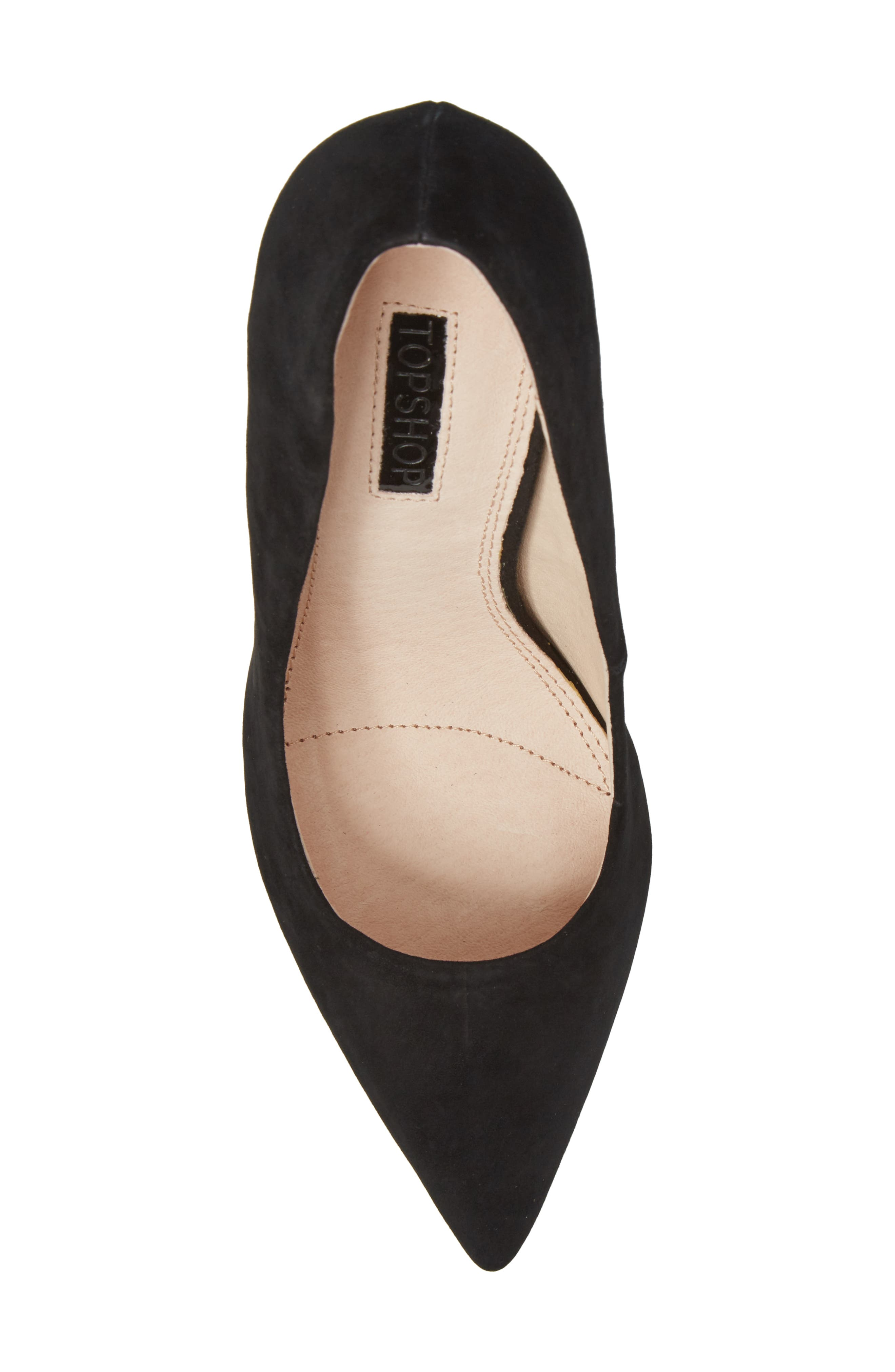 Grammer Pointy Toe Pump,                             Alternate thumbnail 5, color,                             Black Leather
