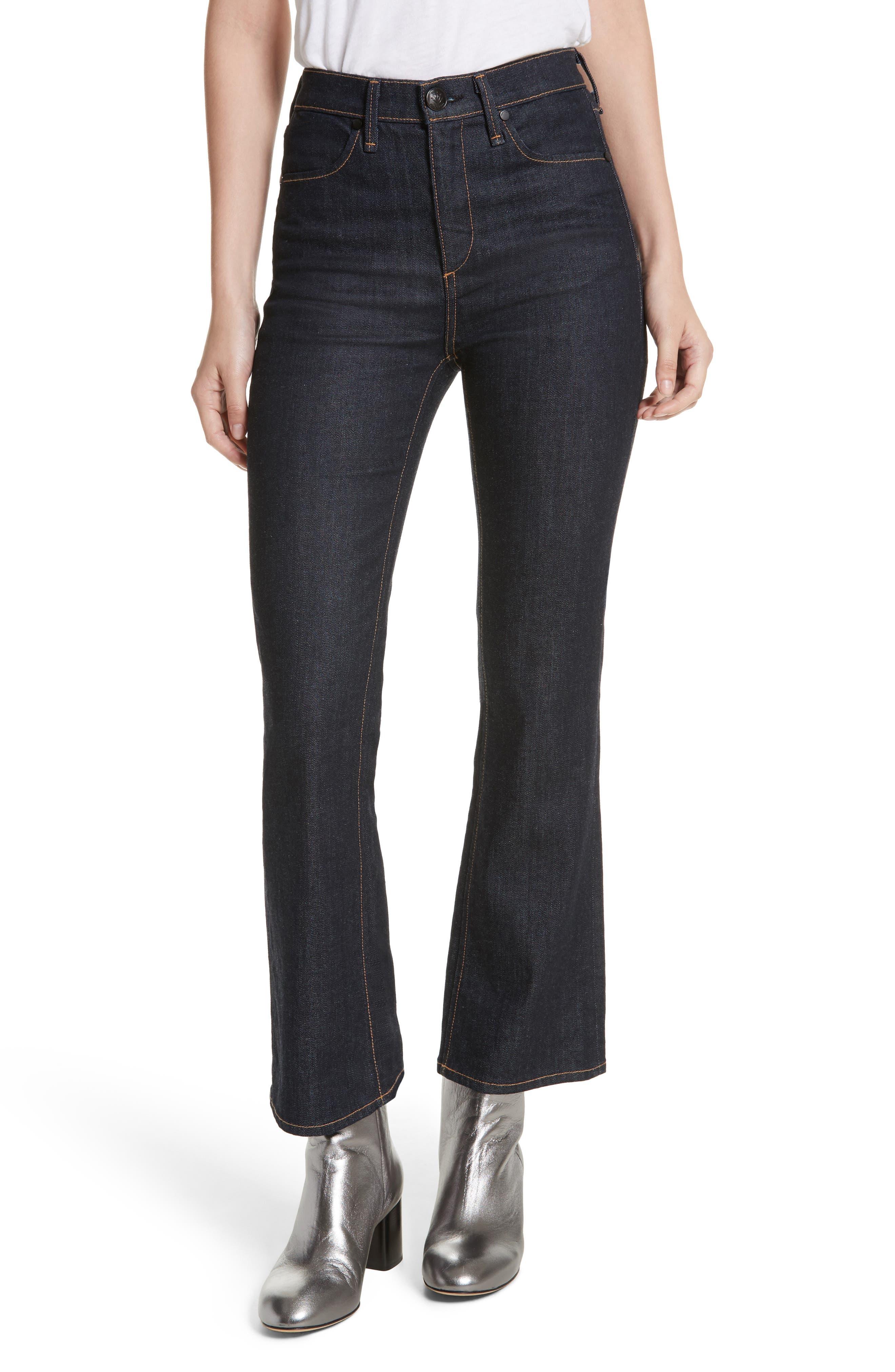 Dylan High Waist Kick Flare Jeans,                         Main,                         color, Indigo