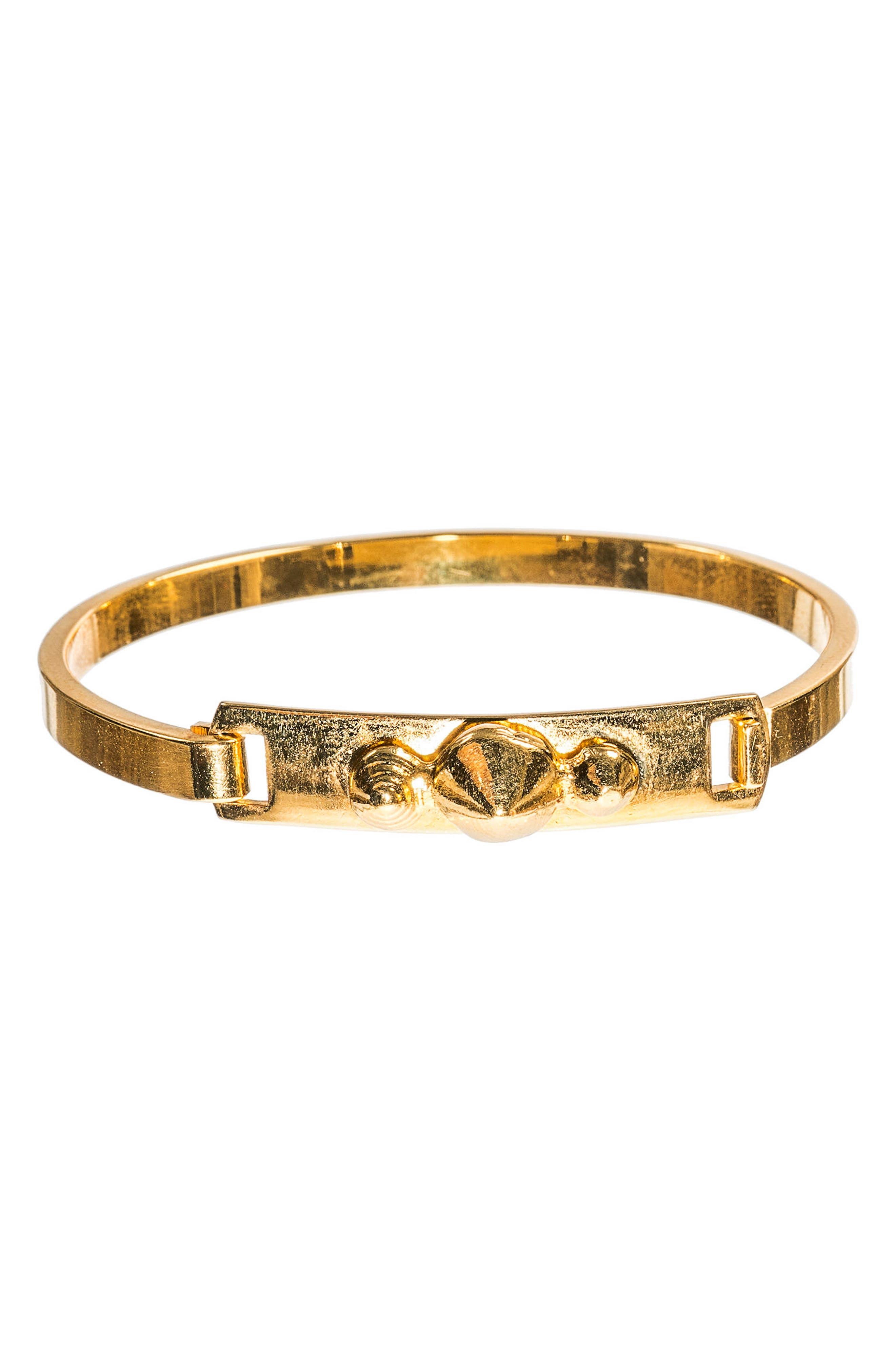 MHART Gold Spike Cuff Bracelet