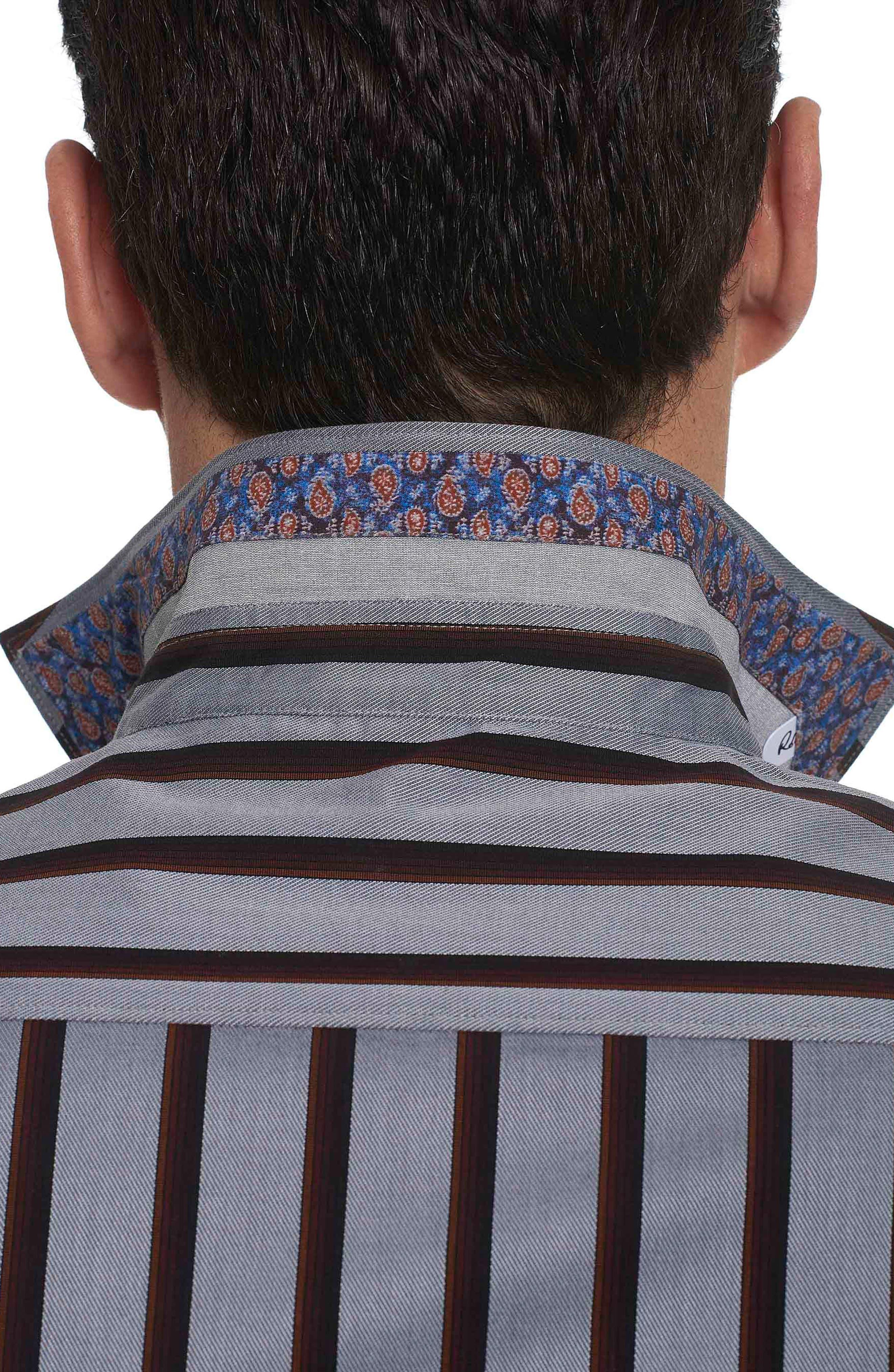 Alternate Image 3  - Robert Graham Baltica Classic Fit Stripe Sport Shirt