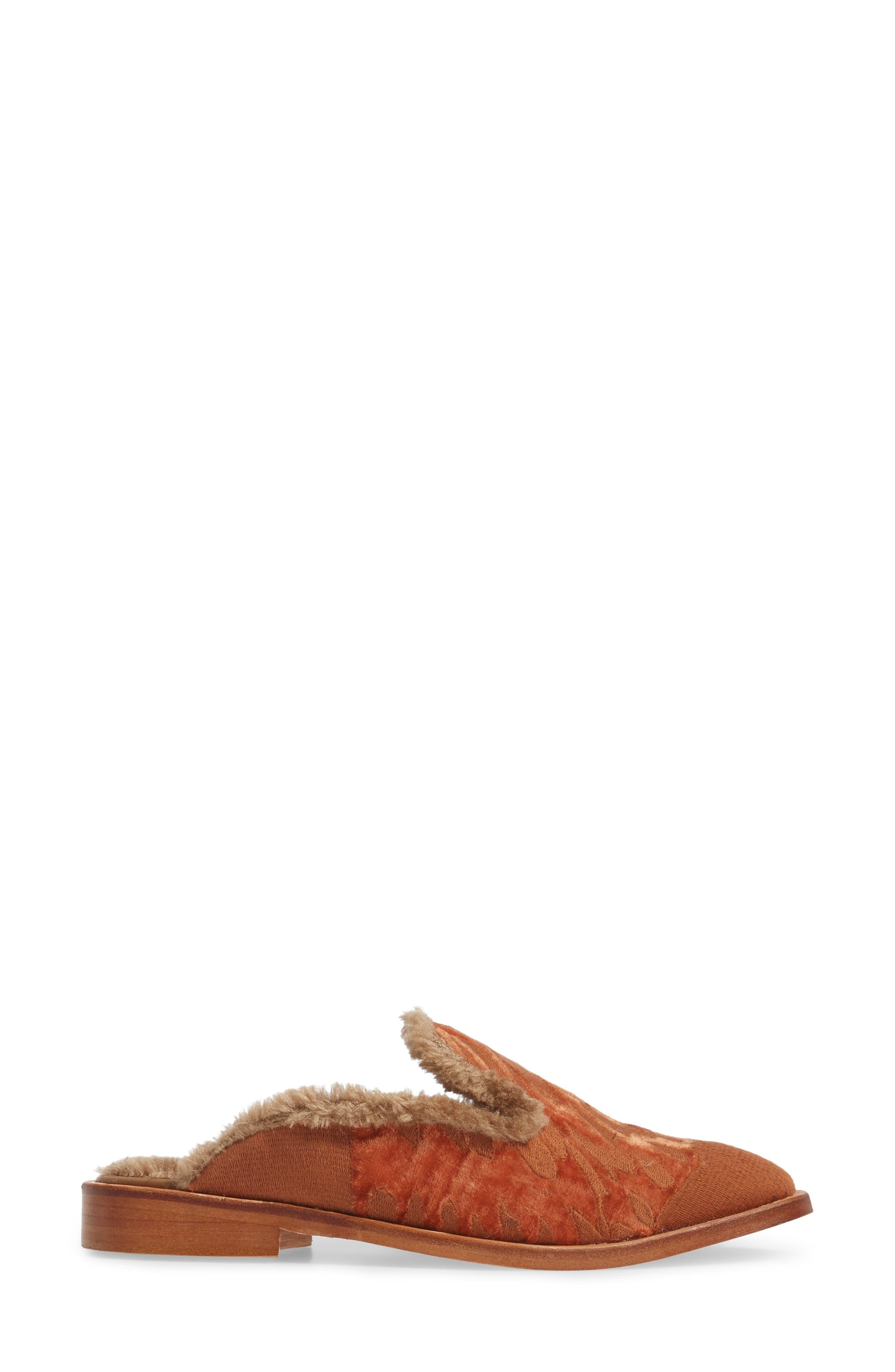 Alternate Image 3  - Free People Butterfly Faux Fur Lined Mule (Women)