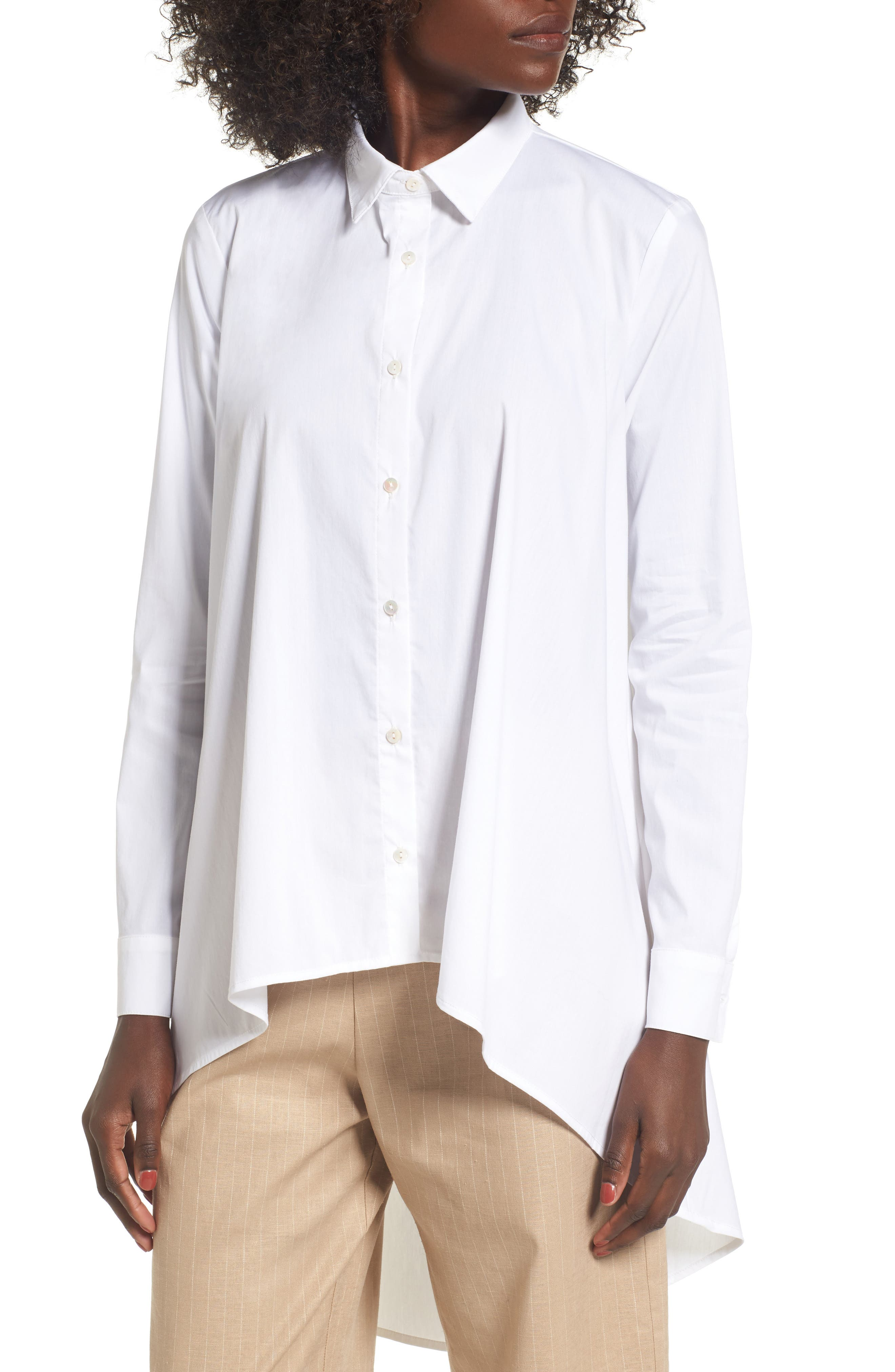 Main Image - Leith Oversize High/Low Blouse