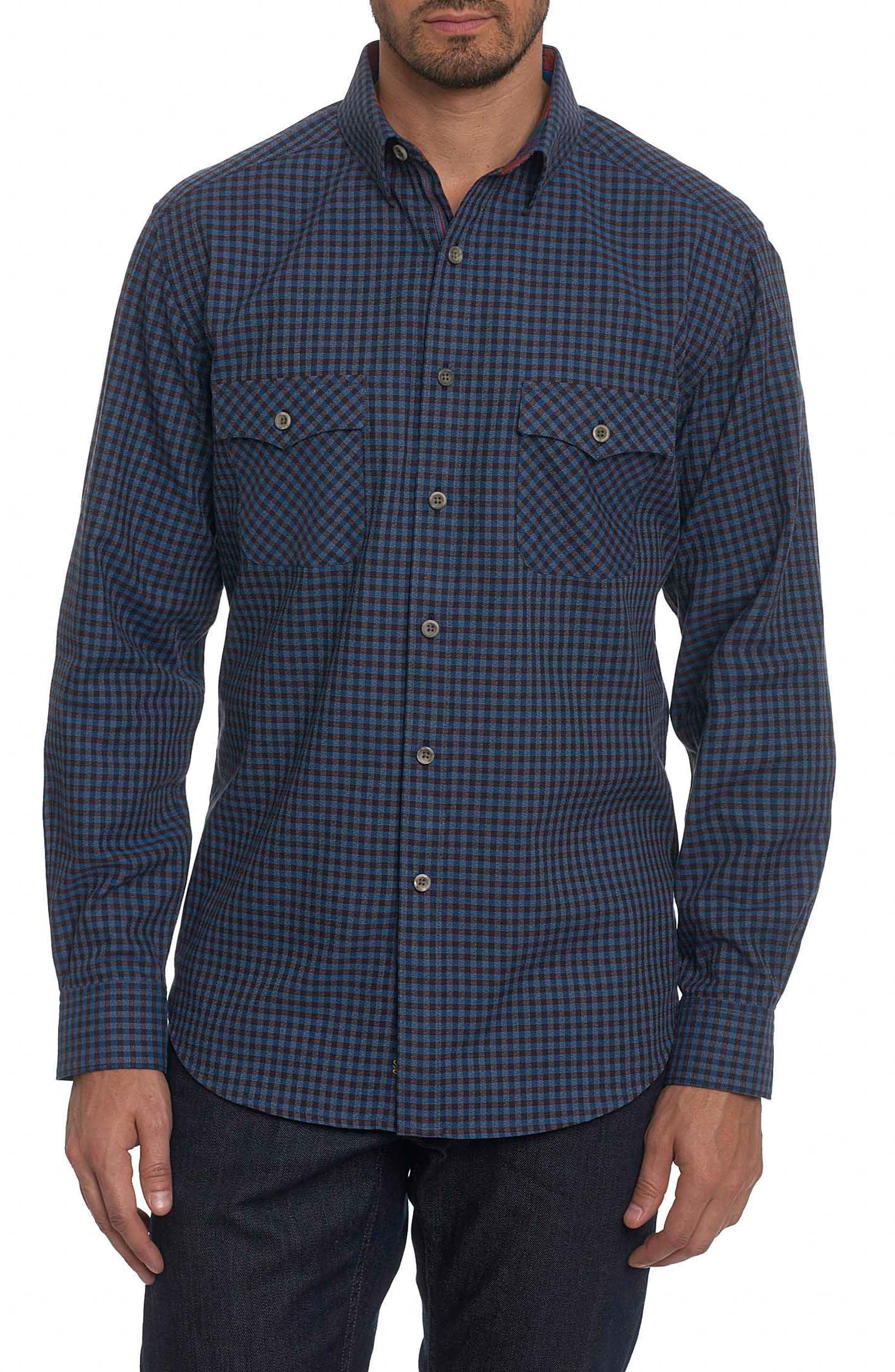 Newcomb Classic Fit Sport Shirt,                         Main,                         color, Navy