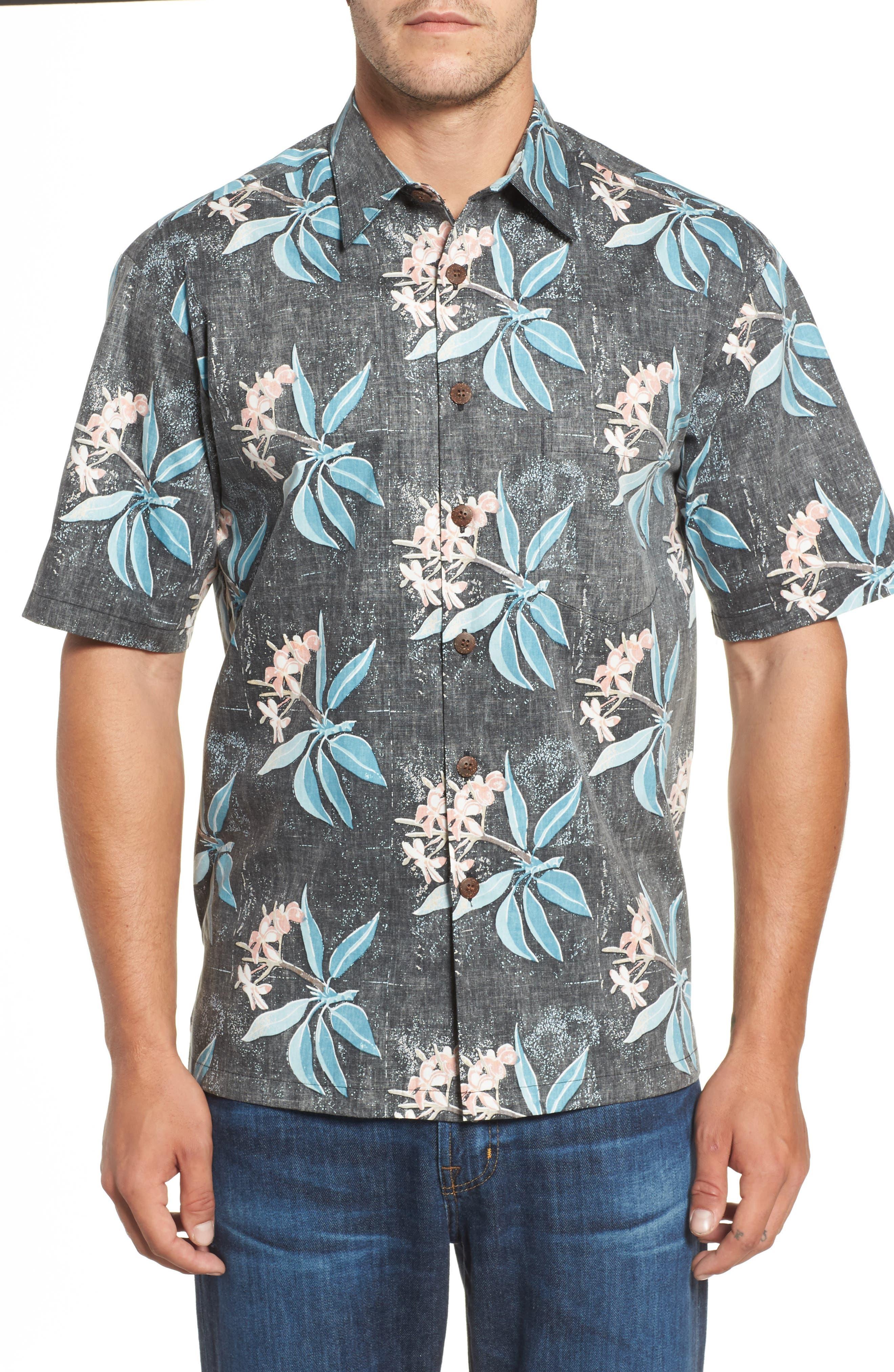 Kahala Pua Classic Fit Print Sport Shirt