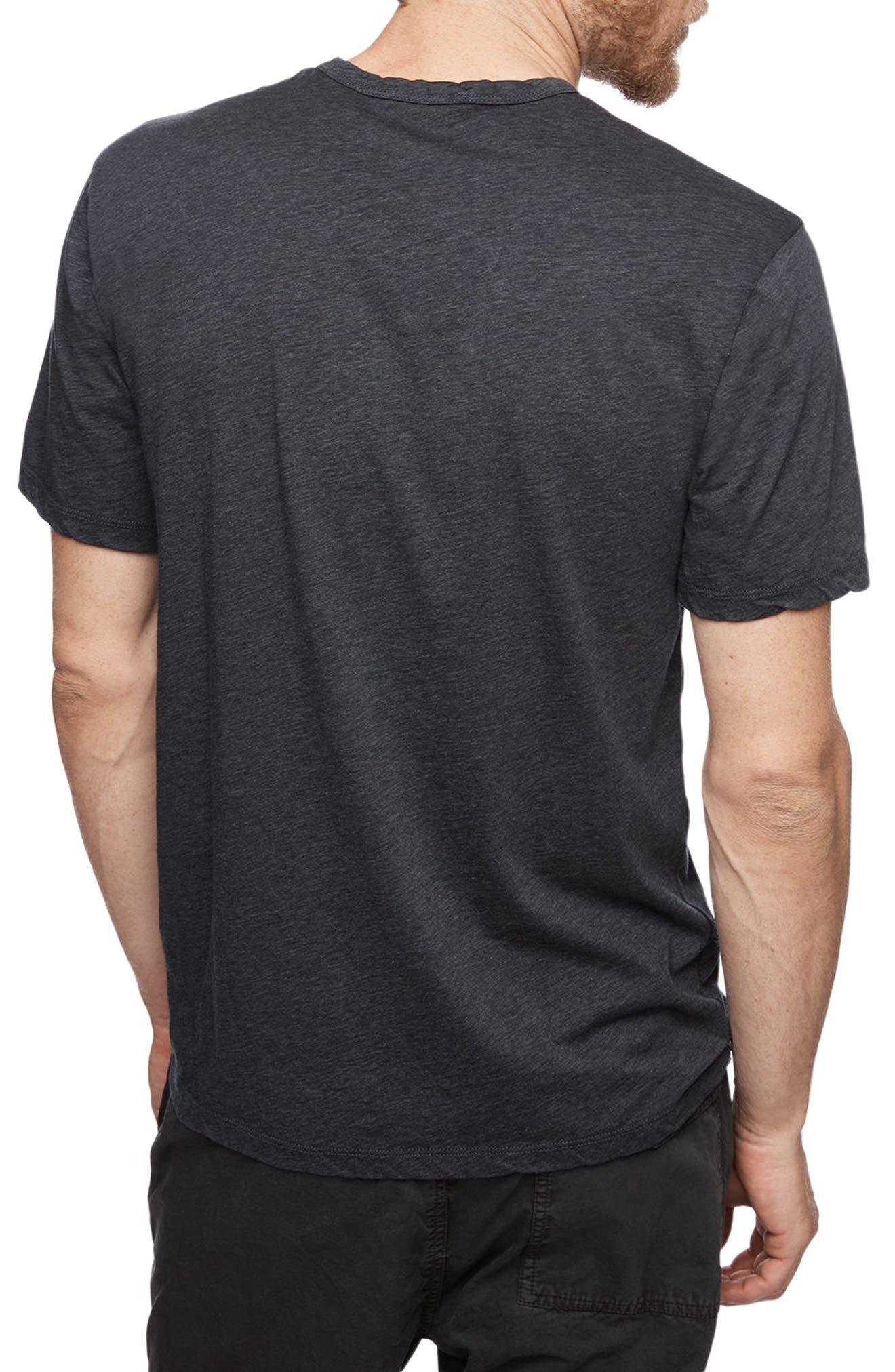 Clean Crewneck Cotton & Cashmere T-Shirt,                             Alternate thumbnail 2, color,                             Heather Navy
