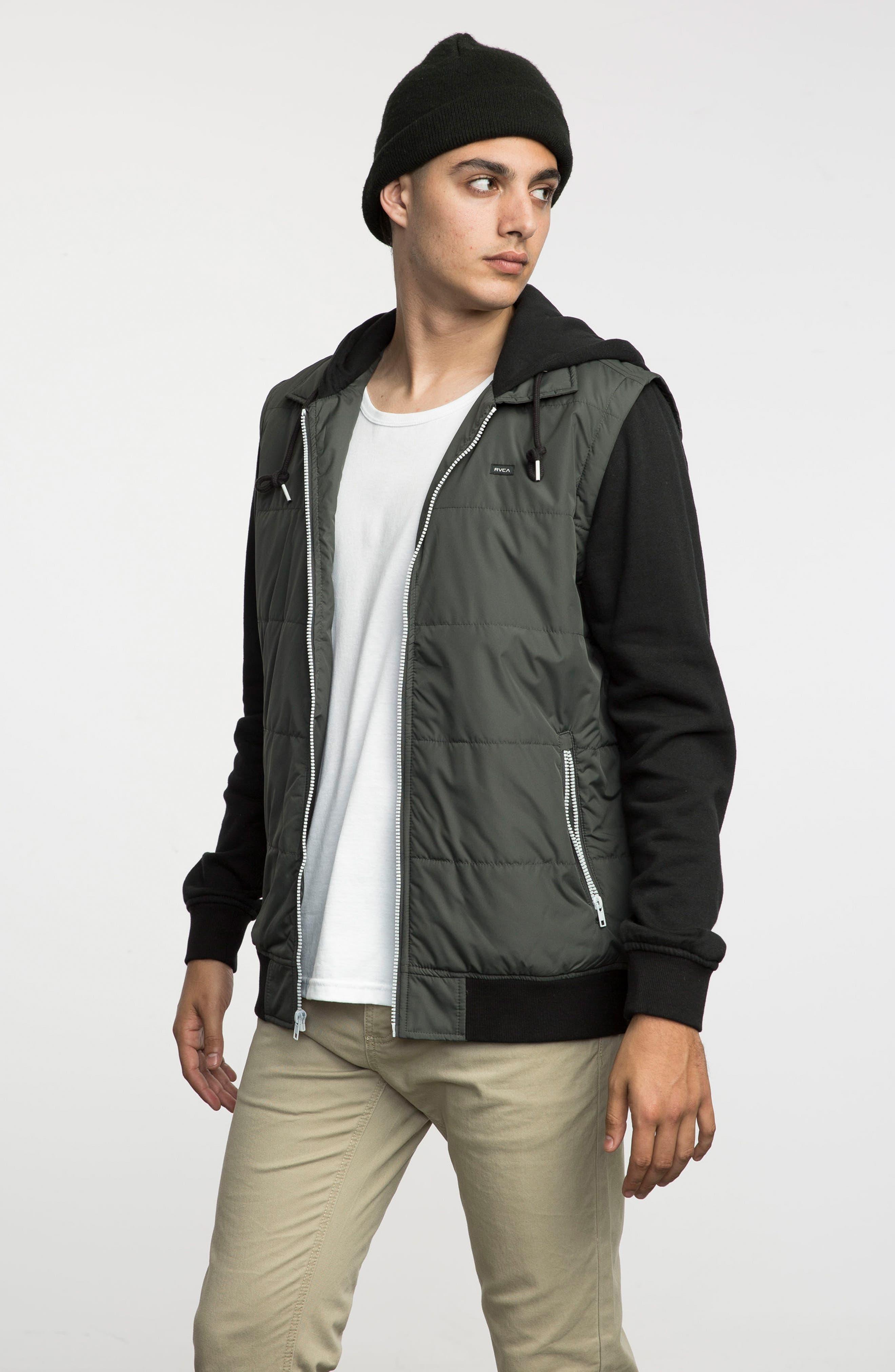 Alternate Image 5  - RVCA Puffer Zips Hybrid Jacket