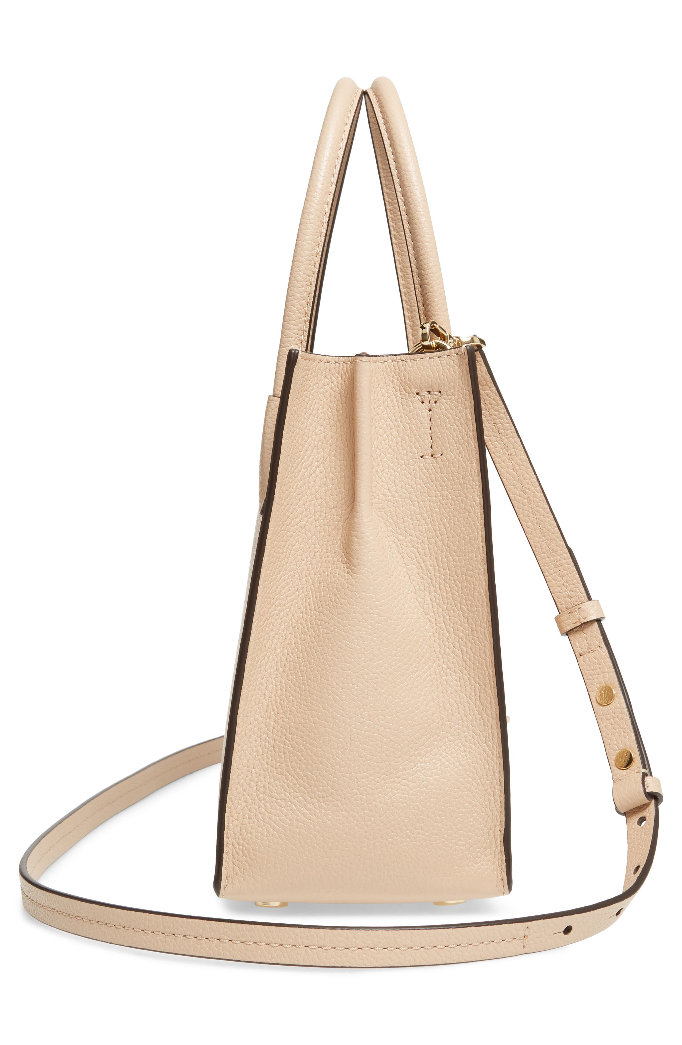 'Medium Mercer' Leather Tote,                             Alternate thumbnail 3, color,                             Oyster