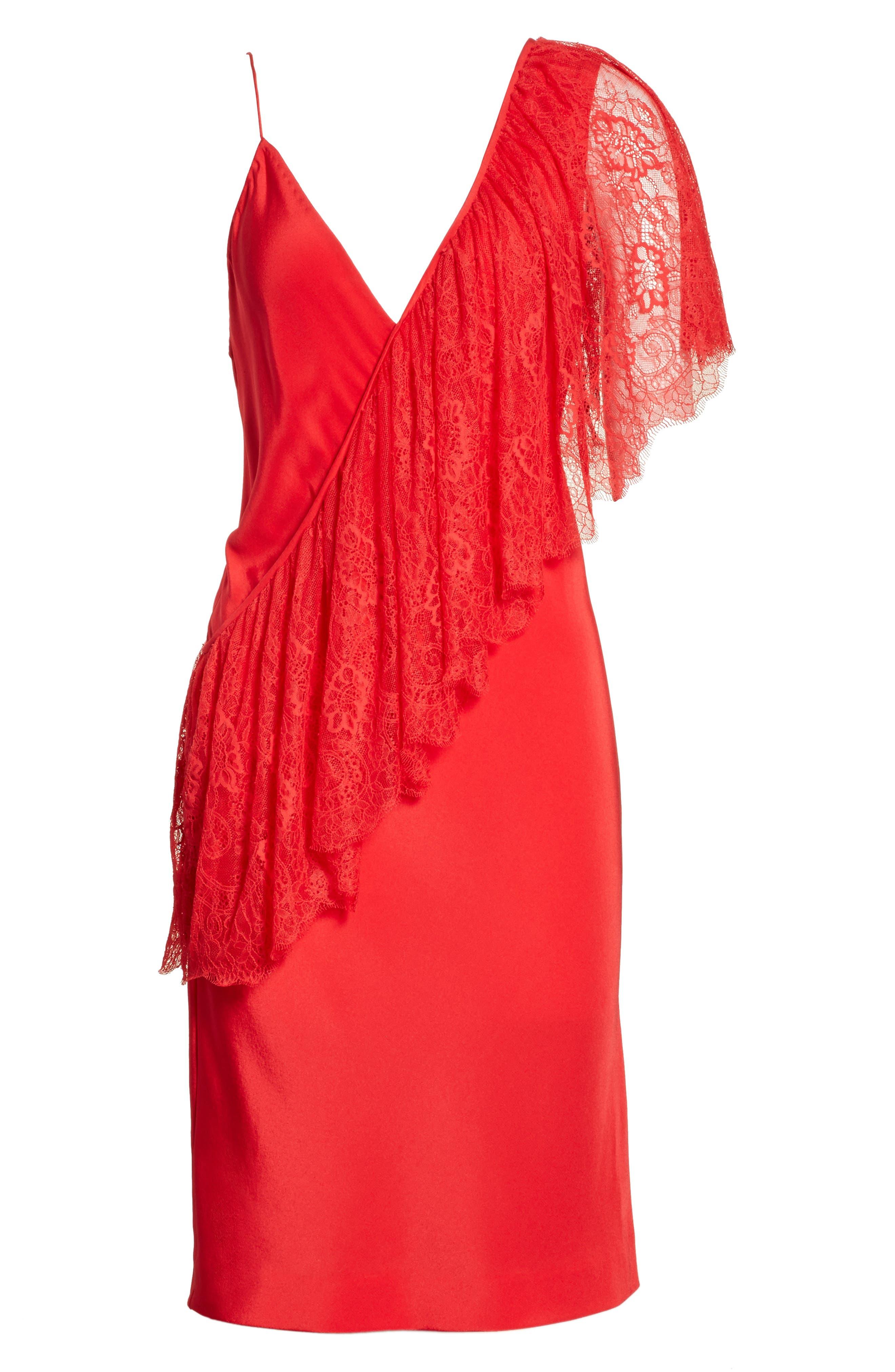 Alternate Image 6  - Diane von Furstenberg Ruffle Front Lace Dress