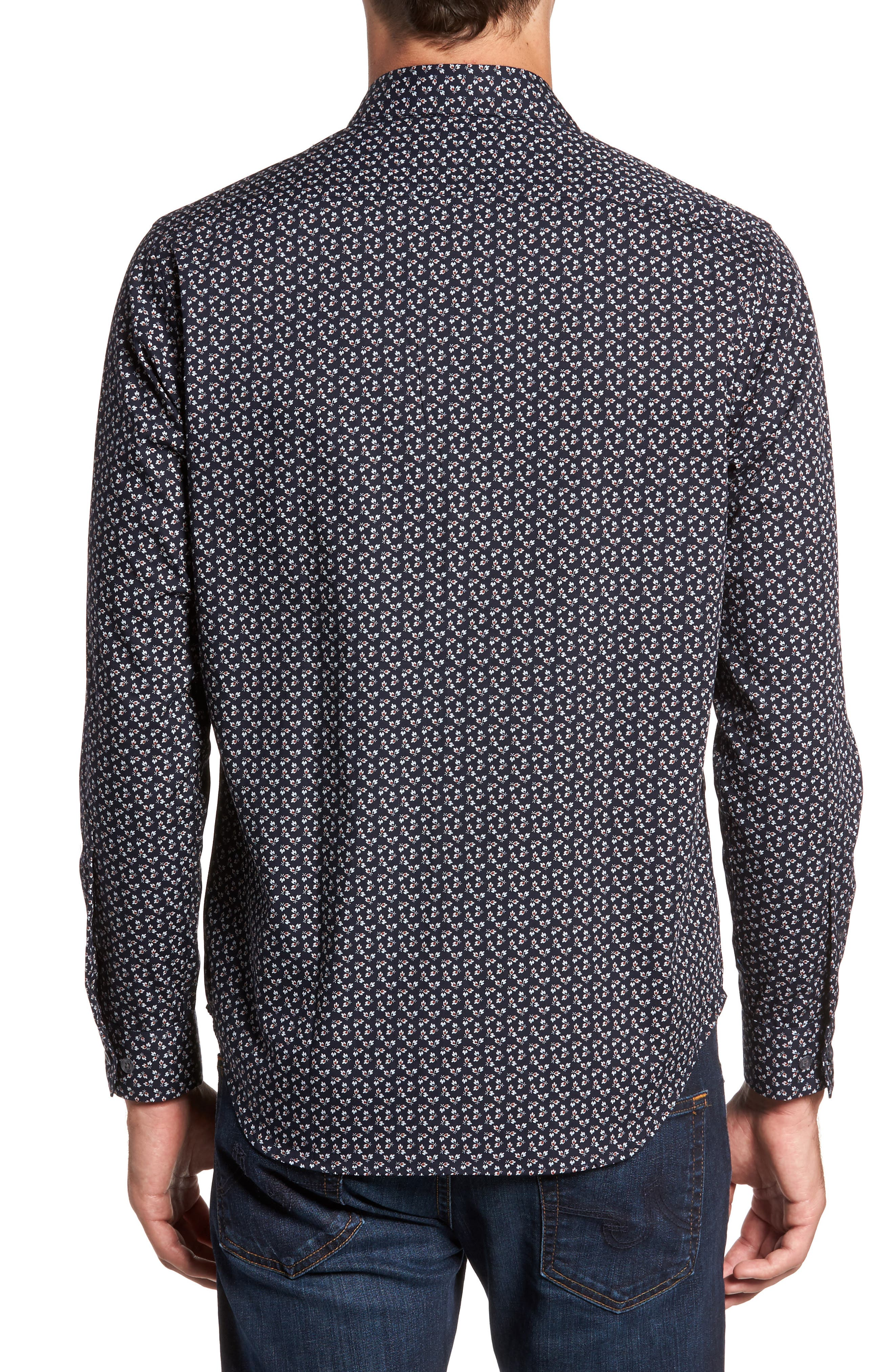 Alternate Image 2  - Jeff Slim Fit Floral Print Sport Shirt