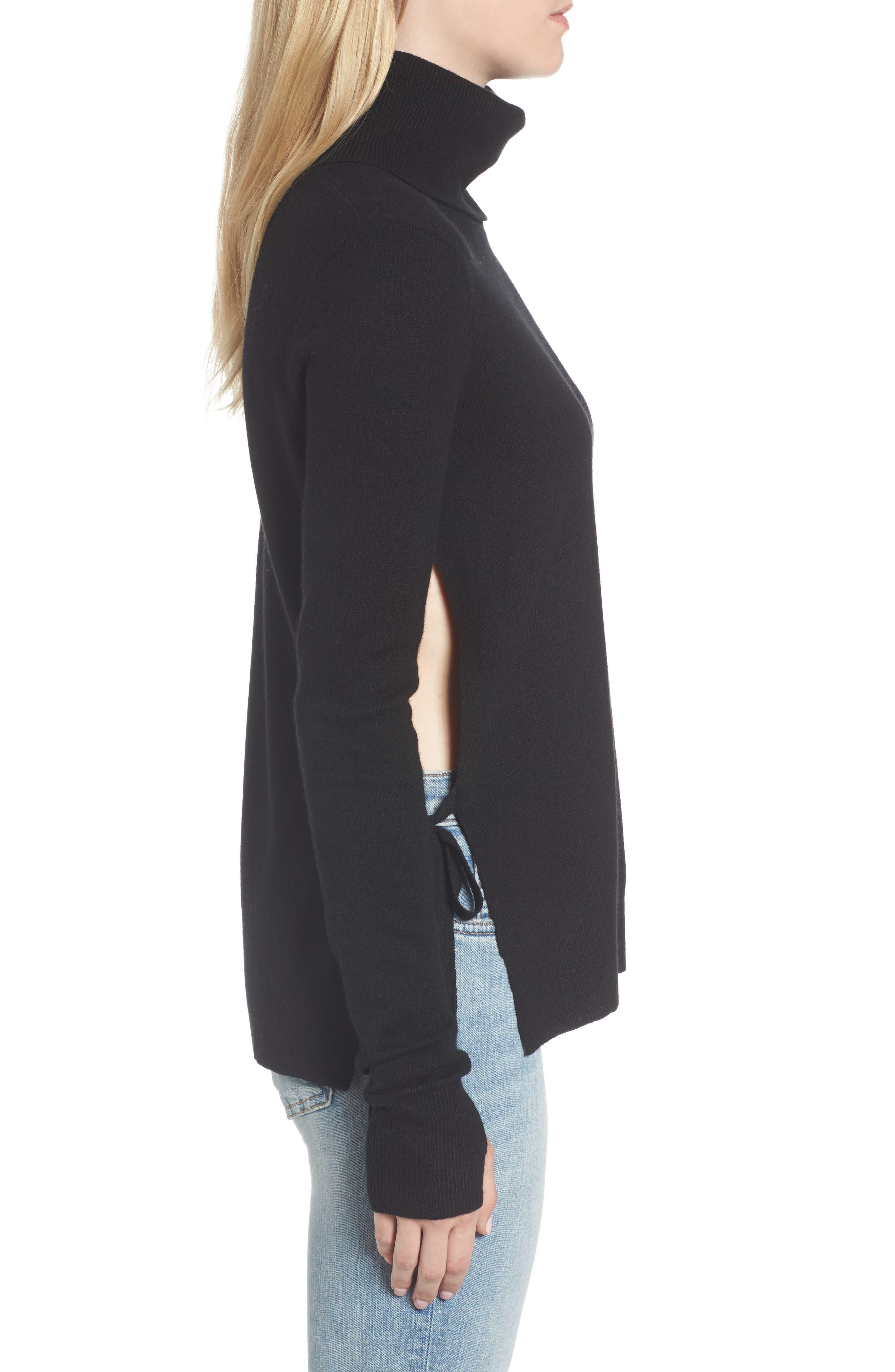 Alternate Image 3  - Pam & Gela Distressed Turtleneck Sweater