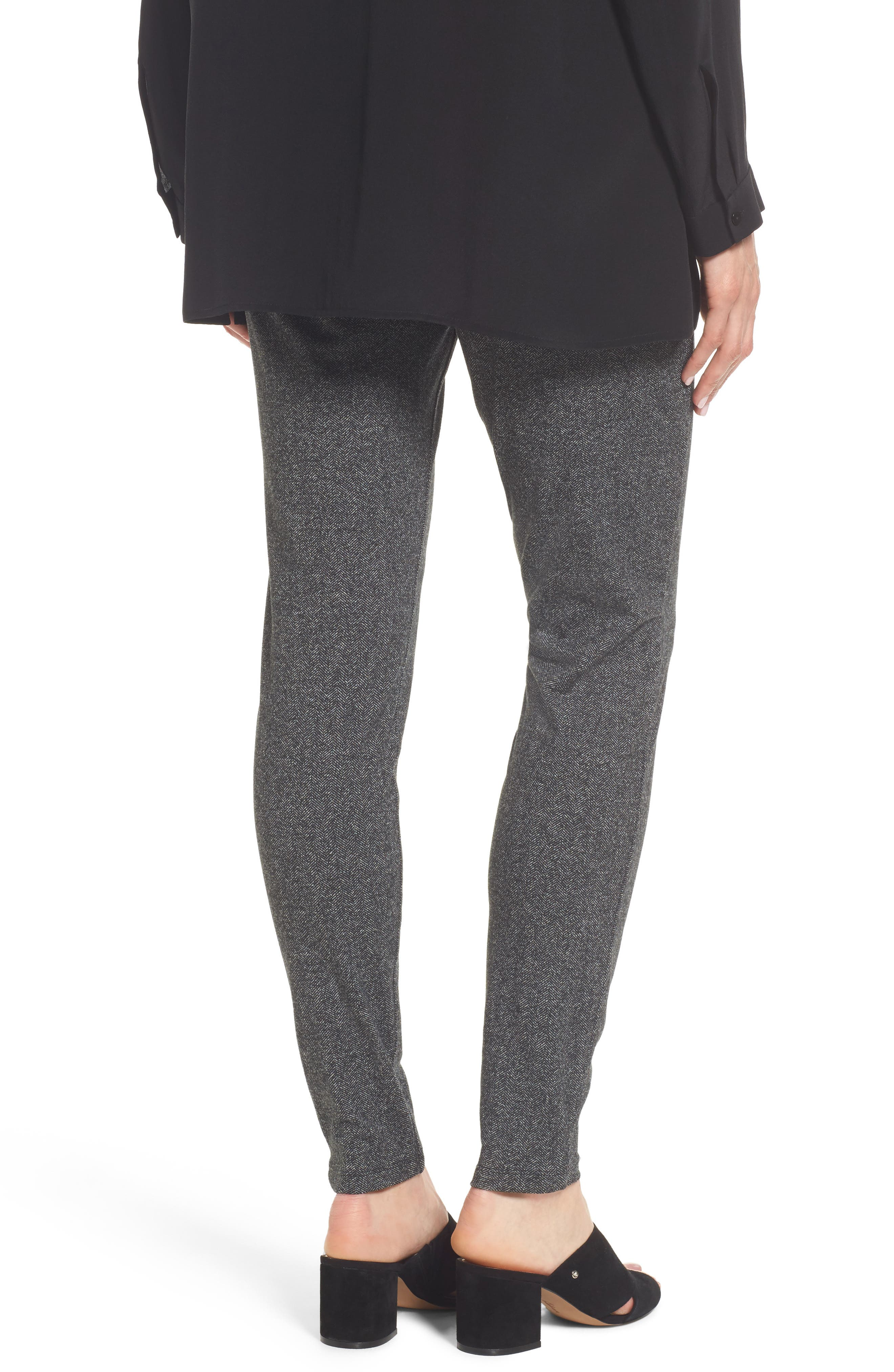 Herringbone Leggings,                             Alternate thumbnail 2, color,                             Charcoal