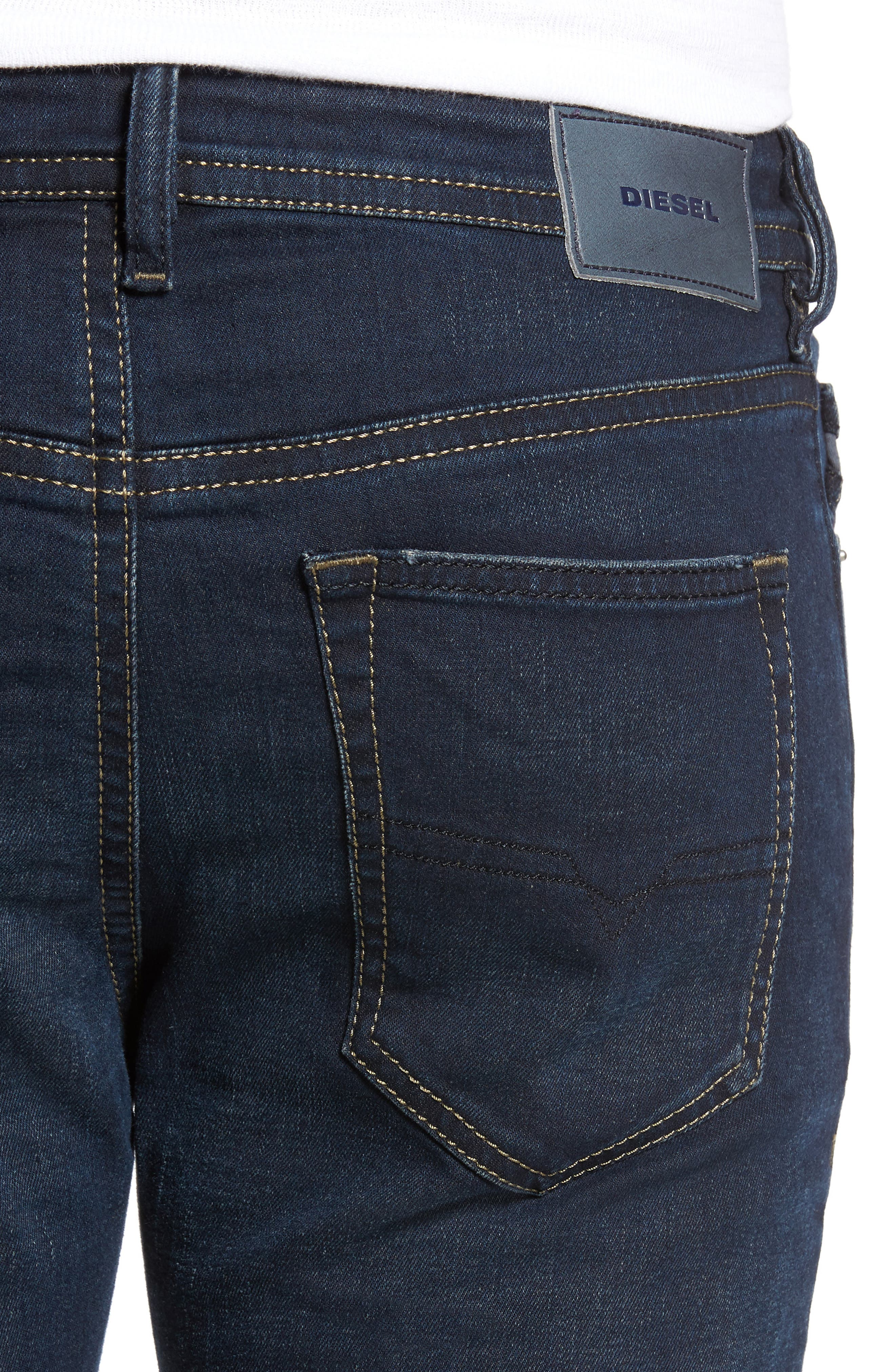Buster Slim Straight Fit Jeans,                             Alternate thumbnail 4, color,                             Denim