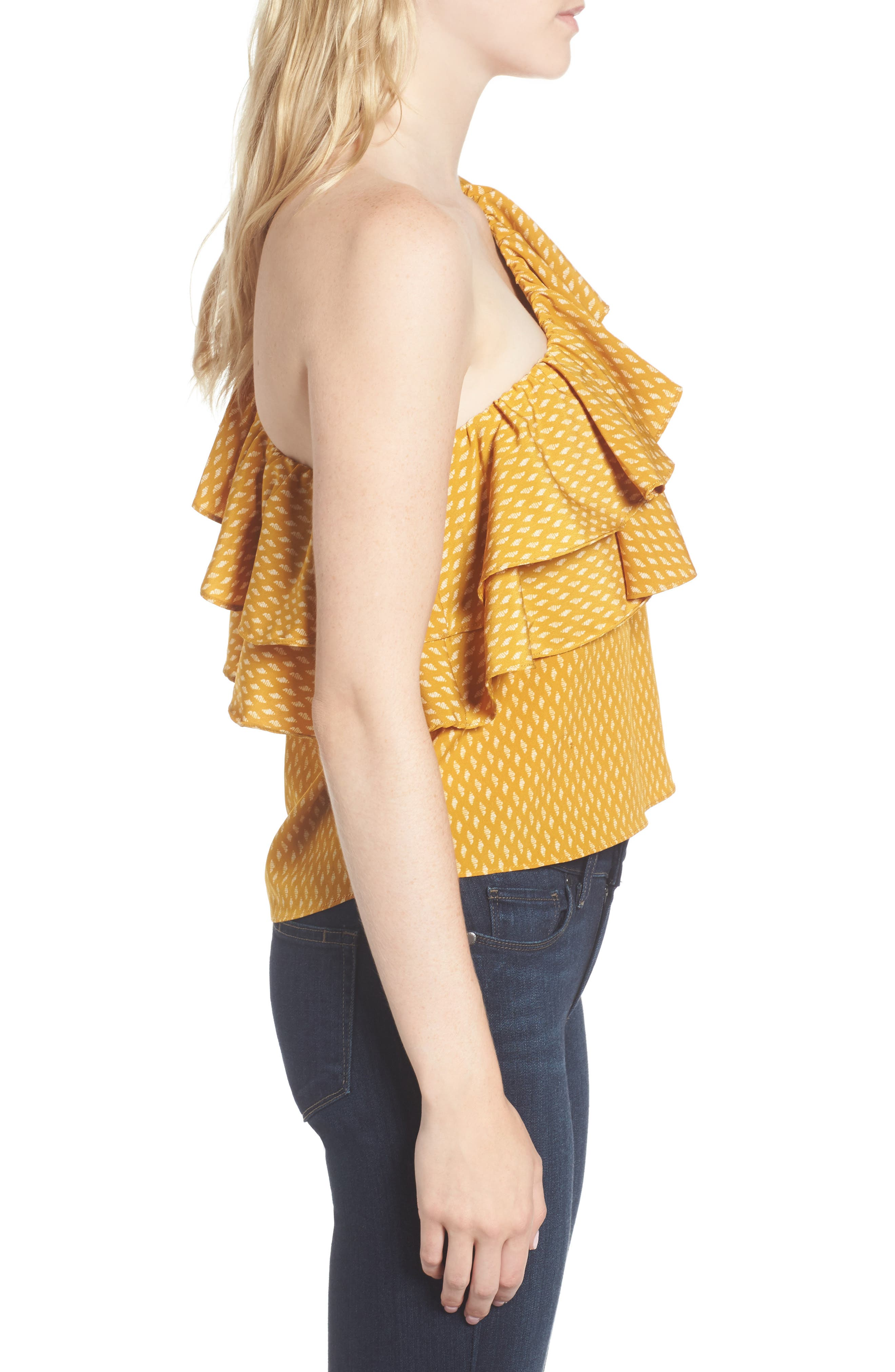 Alternate Image 3  - MISA Los Angeles Klea Ruffle One-Shoulder Top
