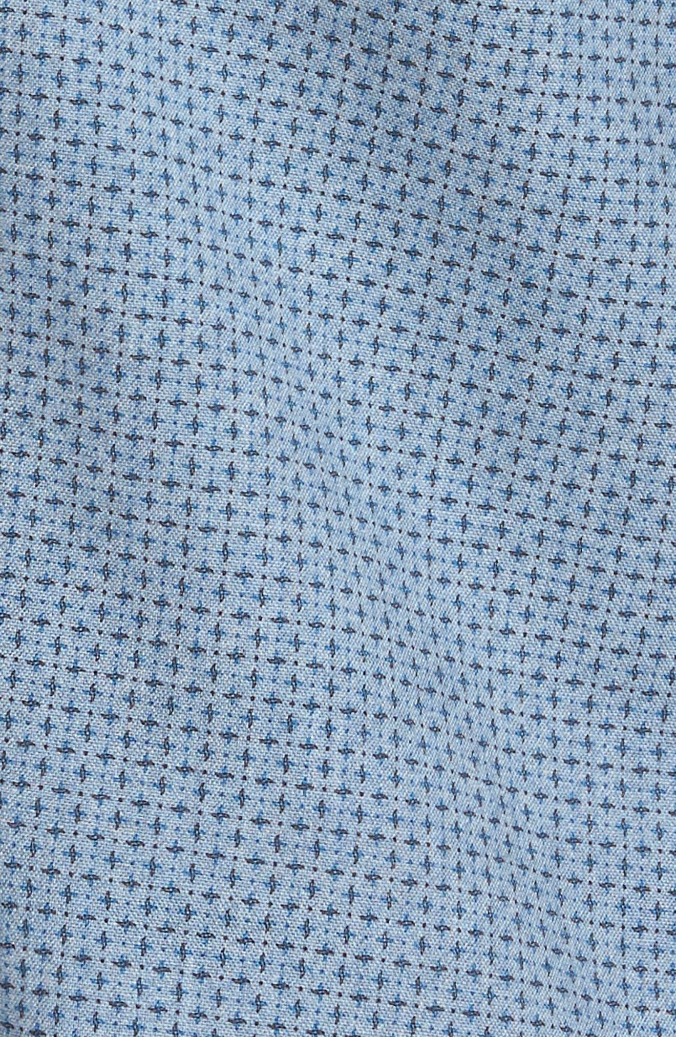 Reworked Patterned Sport Shirt,                             Alternate thumbnail 6, color,                             Blue