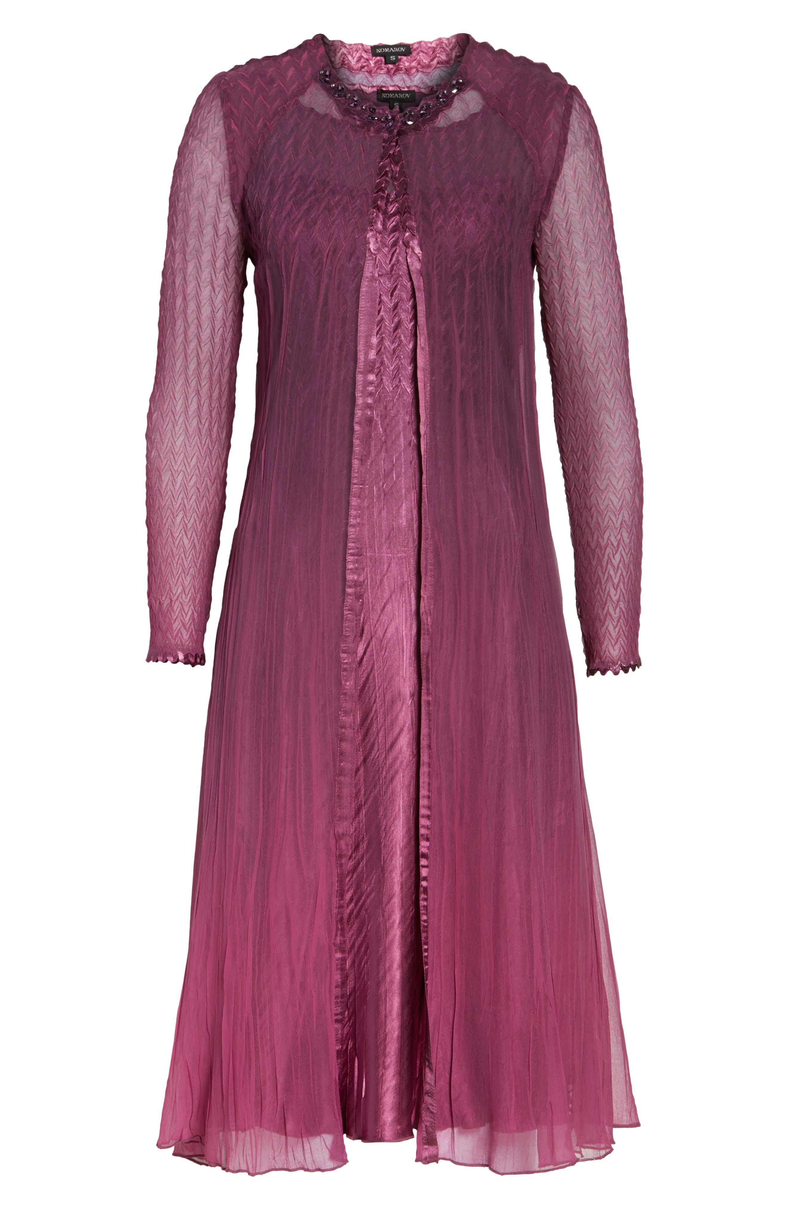 Alternate Image 6  - Komarov Charmeuse & Chiffon A-Line Dress with Jacket (Regular & Petite)