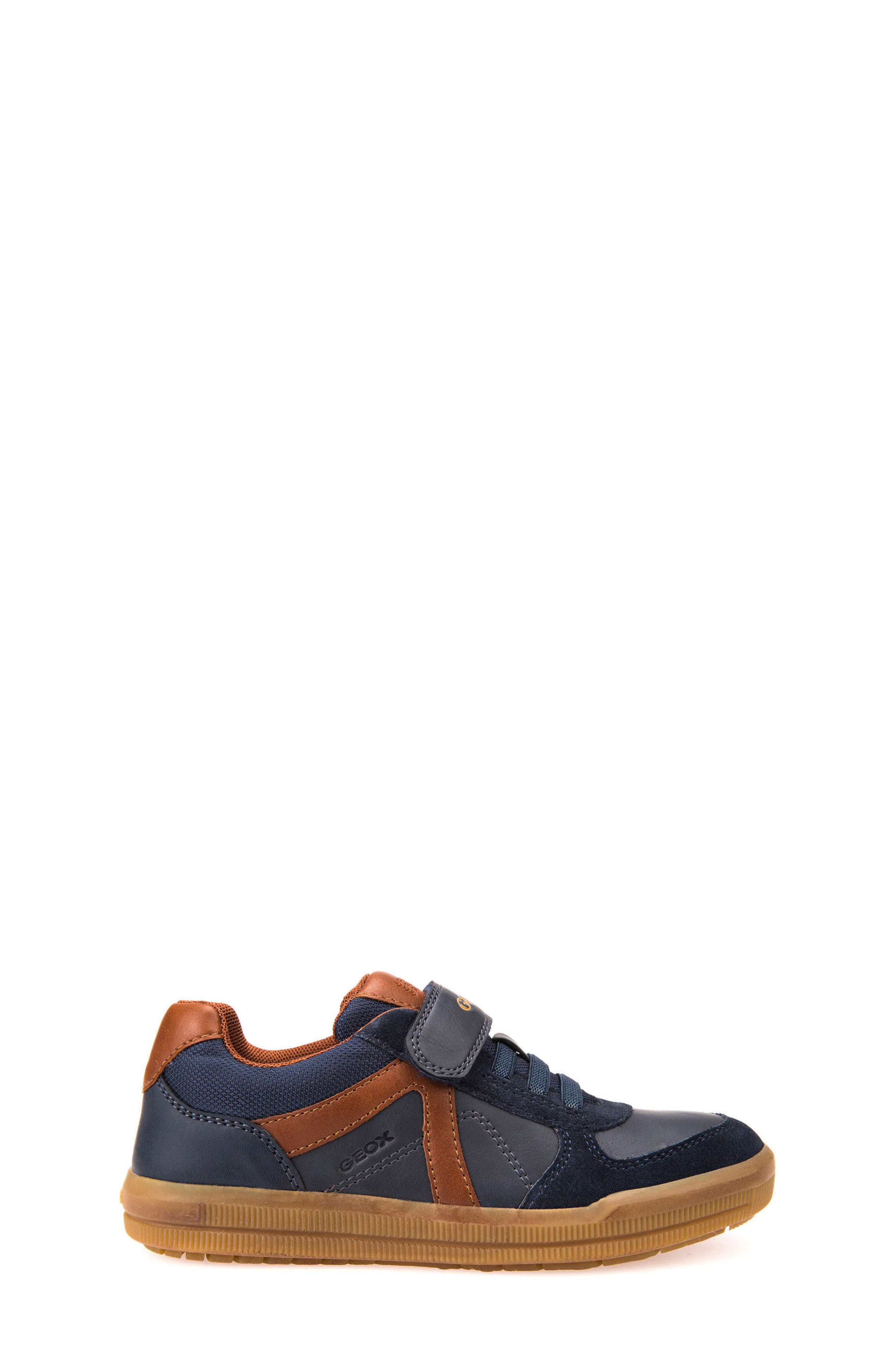 Arzach Low Top Sneaker,                             Alternate thumbnail 3, color,                             Navy/ Brown