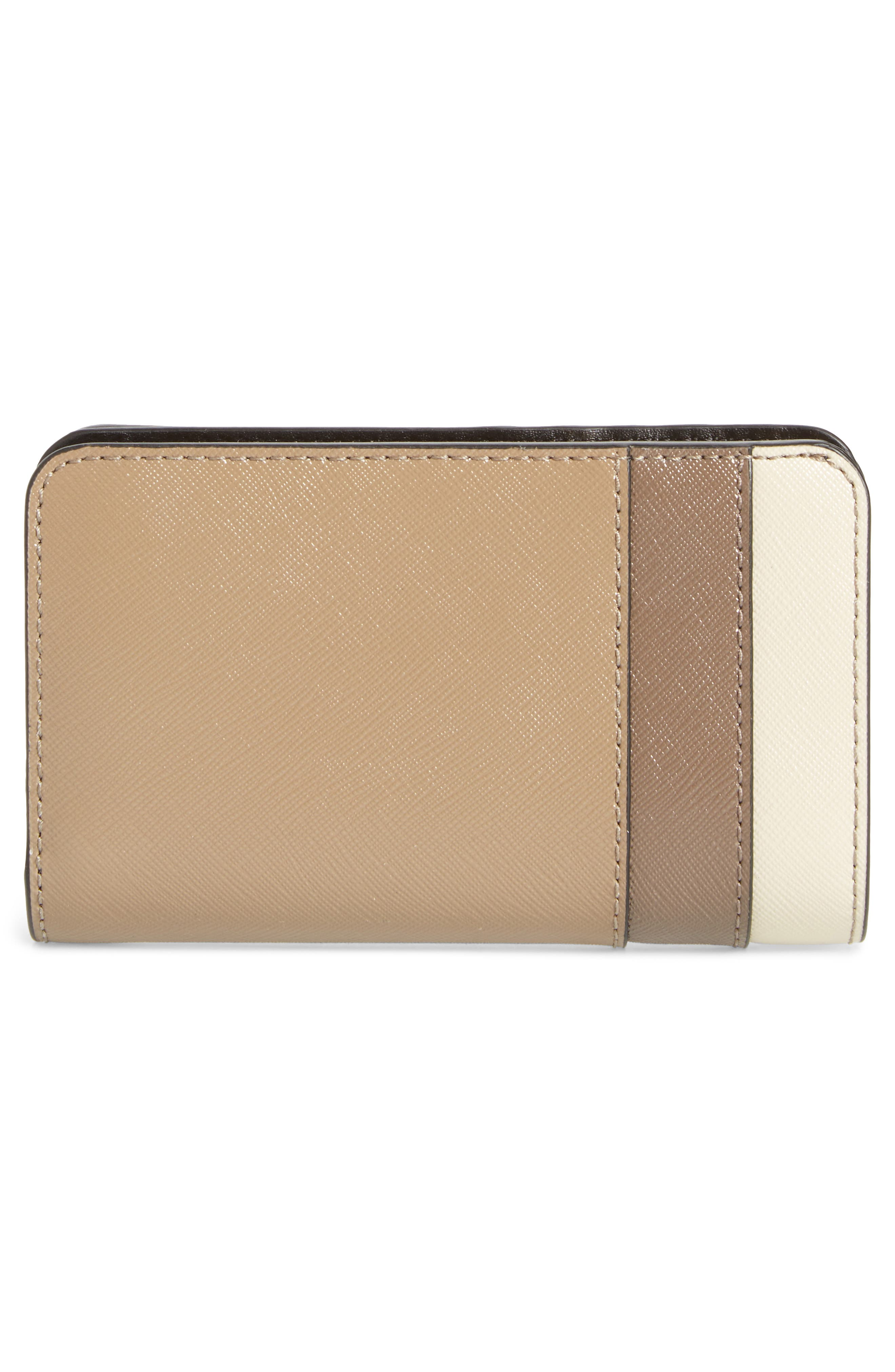 Saffiano Leather Compact Wallet,                             Alternate thumbnail 2, color,                             French Grey Multi