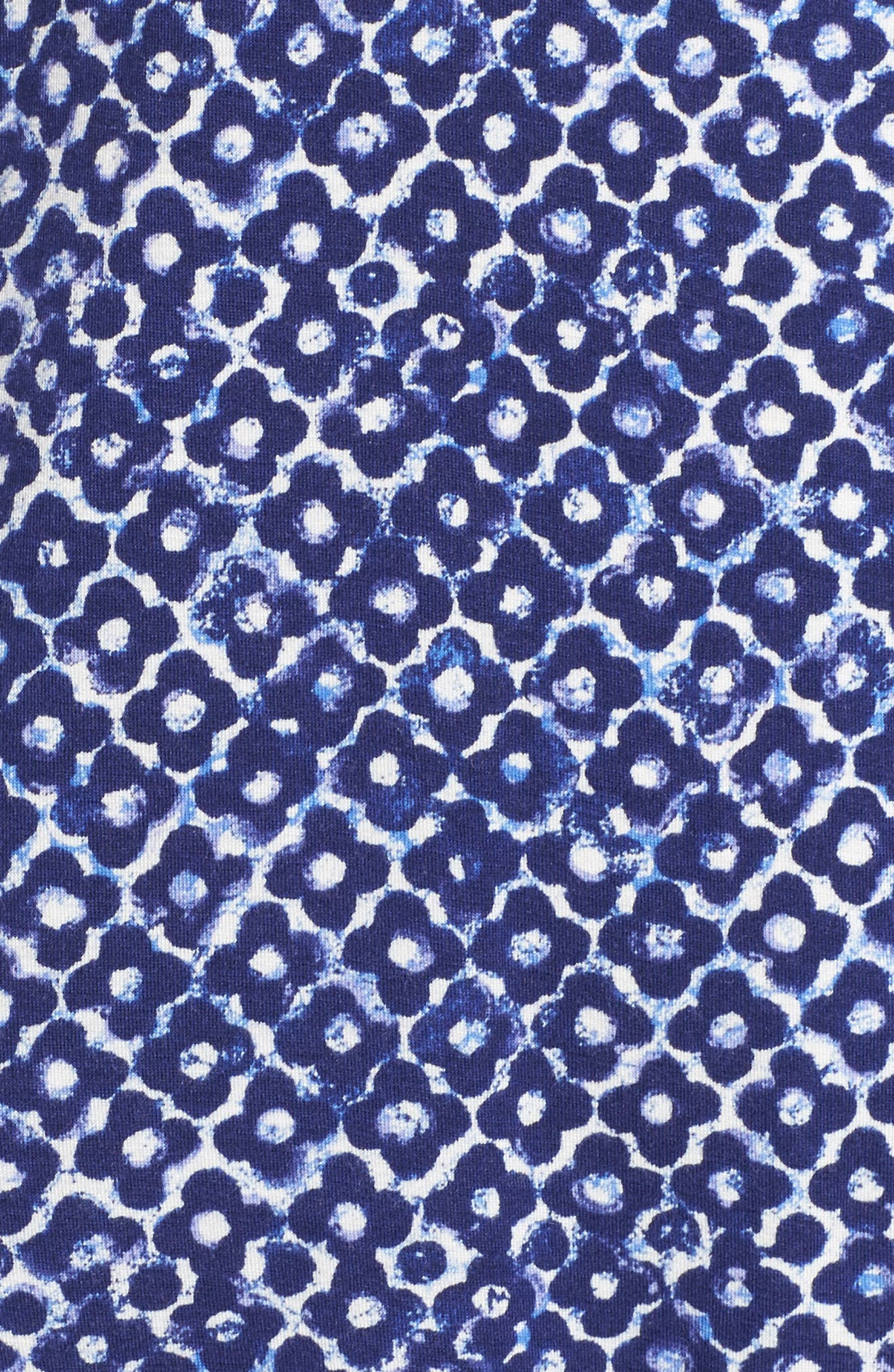 Sleepwear Pajamas,                             Alternate thumbnail 6, color,                             Navy Clover Geo Print