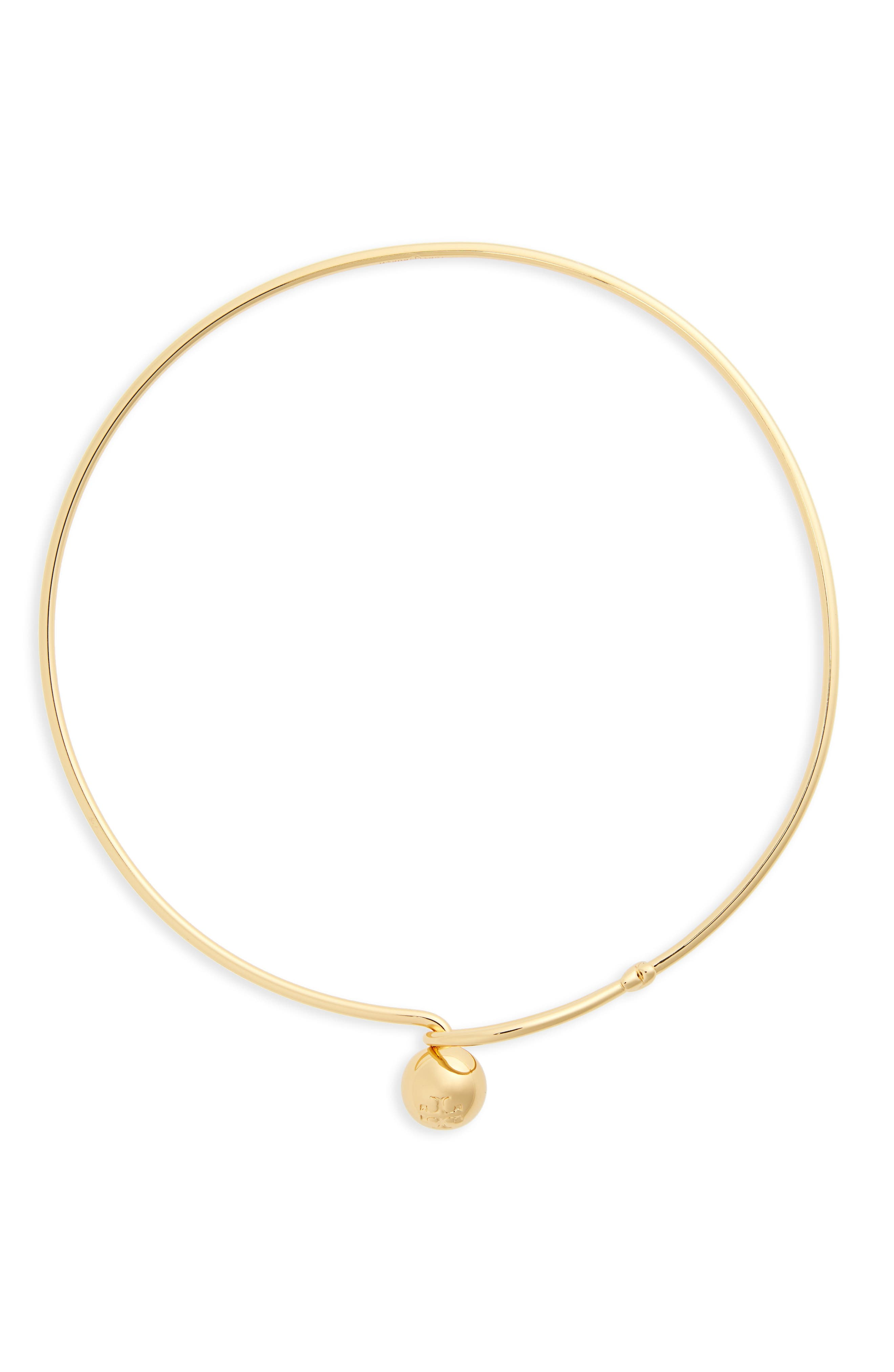 Logo Loop Collar Necklace,                         Main,                         color, Tory Gold
