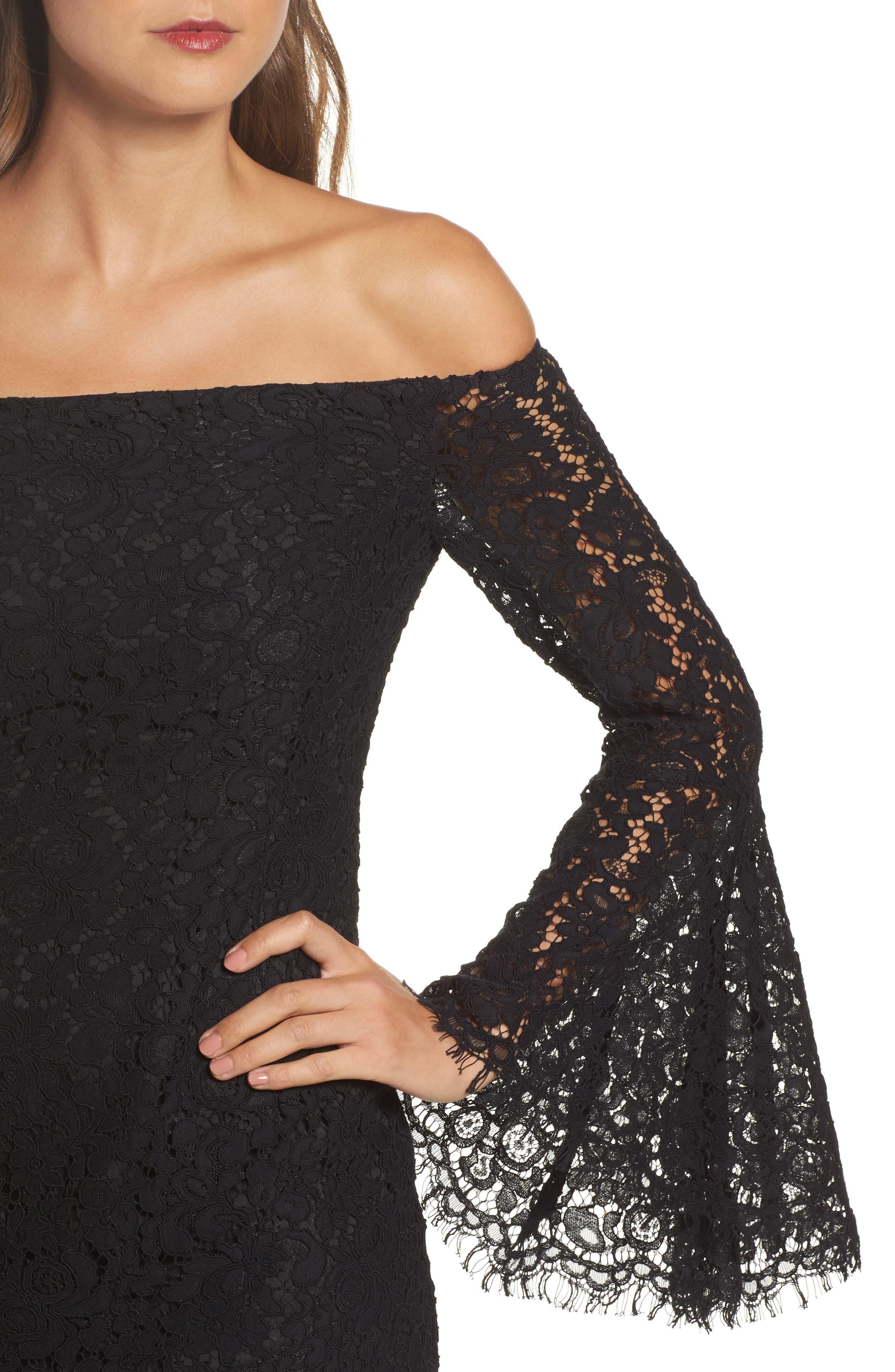 Alternate Image 4  - Bardot Solange Corded Lace Sheath Dress