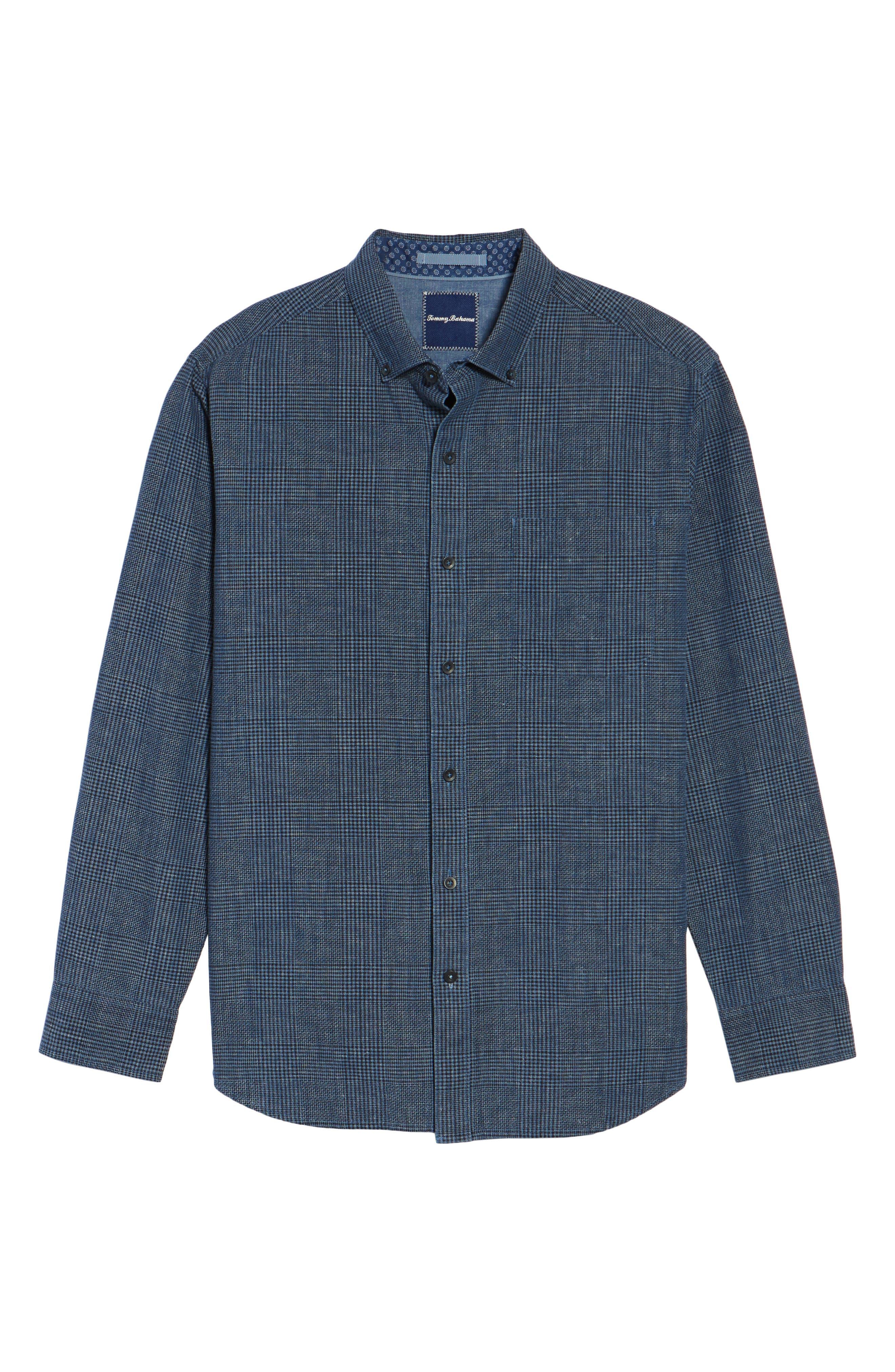 Alternate Image 6  - Tommy Bahama Almeria Standard Fit Plaid Sport Shirt