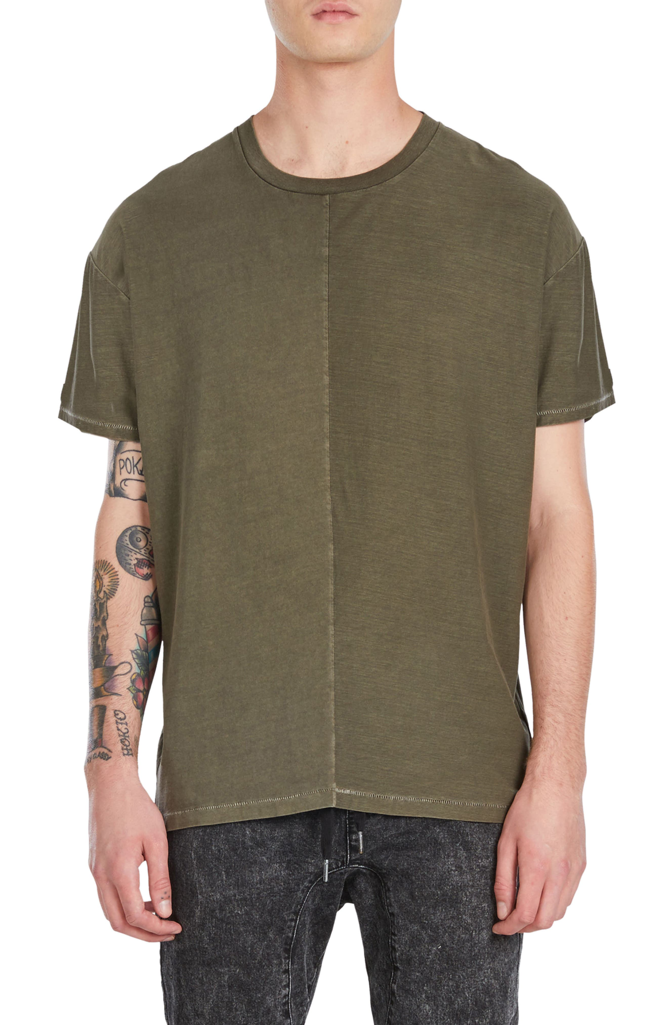 Split Rugger T-Shirt,                         Main,                         color, Peat
