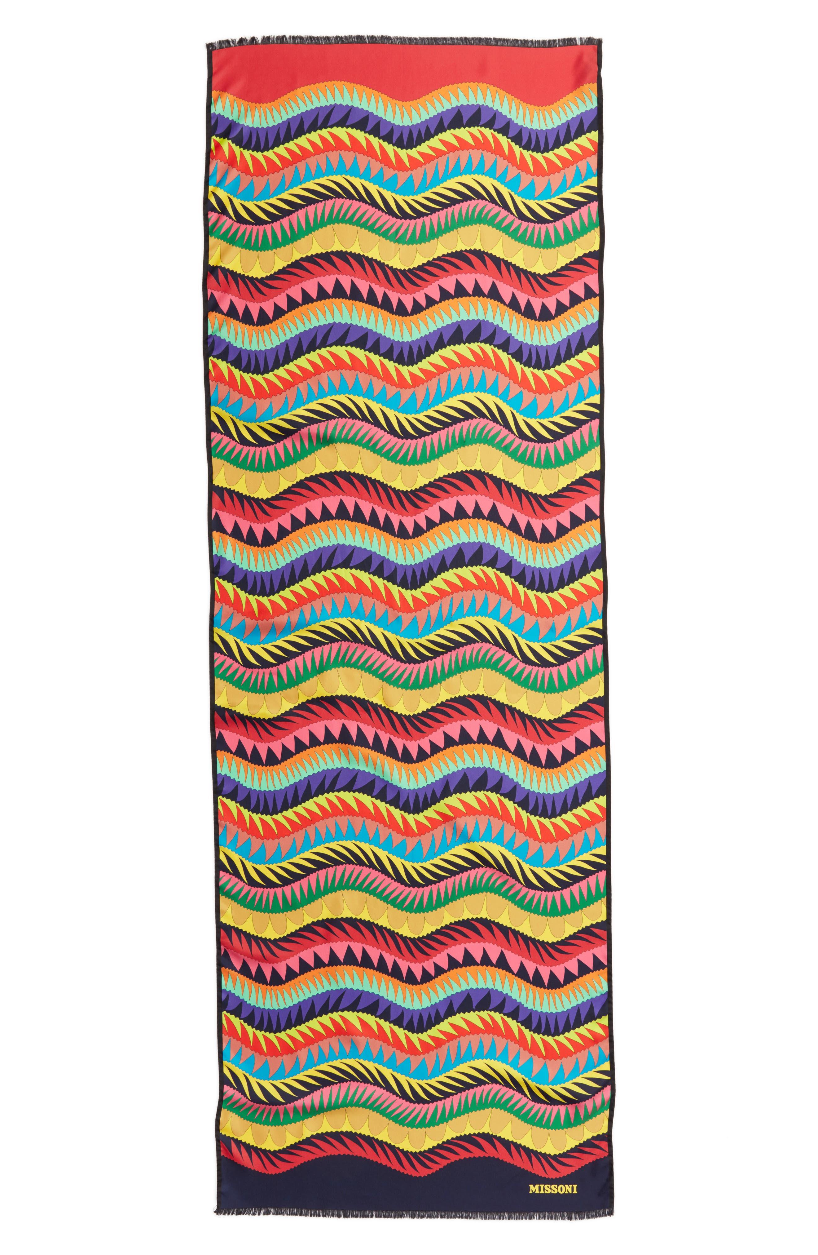 Print Silk Scarf,                         Main,                         color, Multi