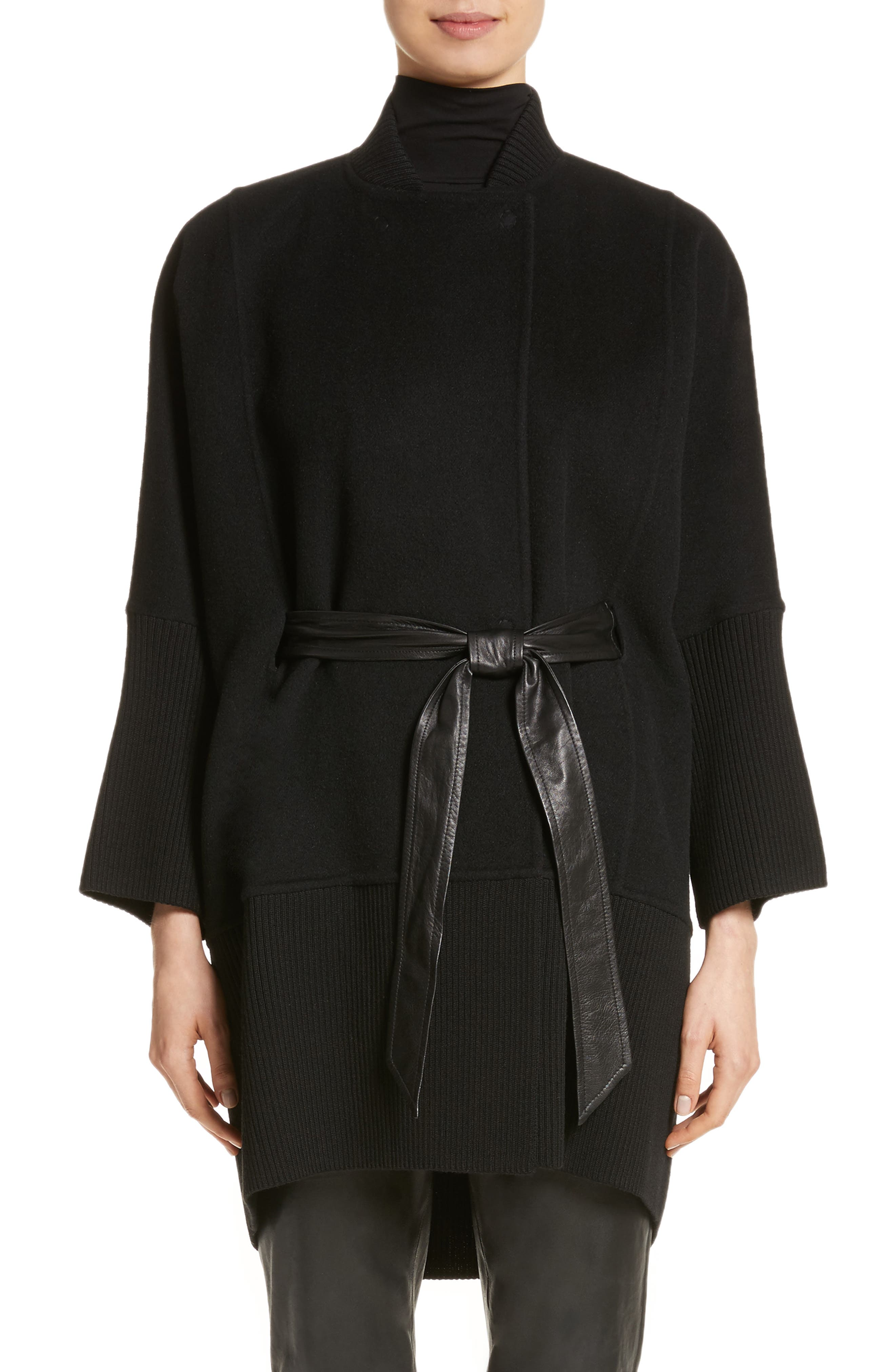 Wool, Angora & Cashmere Blend Jacket,                         Main,                         color, Caviar