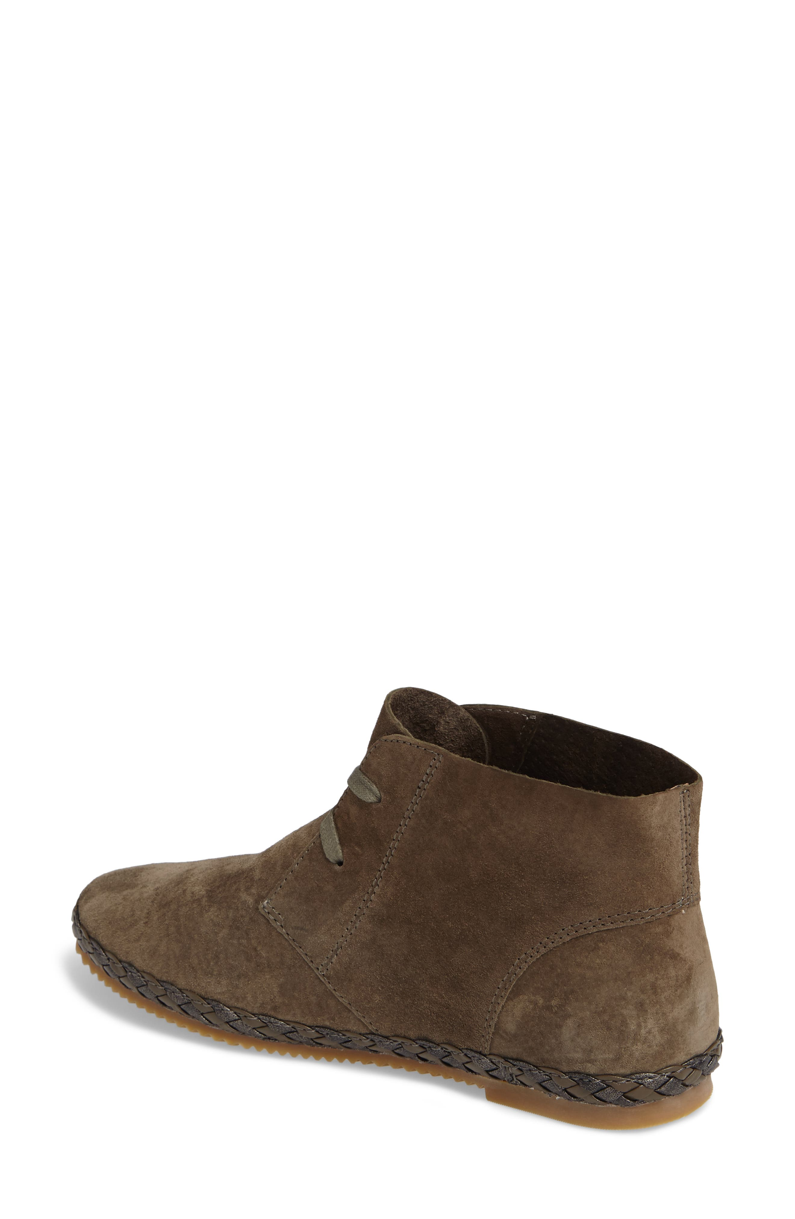 Addison Bootie,                             Alternate thumbnail 2, color,                             Olive Suede