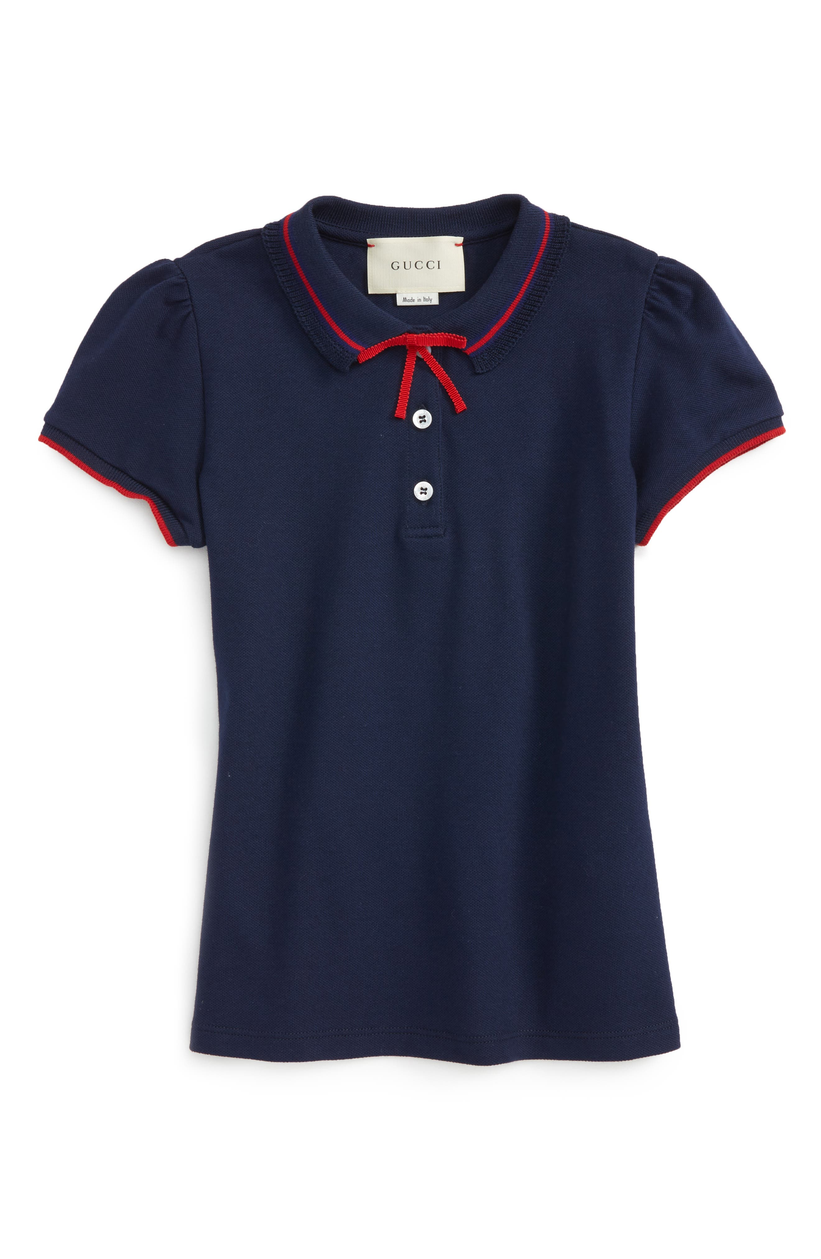 Alternate Image 1 Selected - Gucci Grosgrian Ribbon Polo (Little Girls & Big Girls)