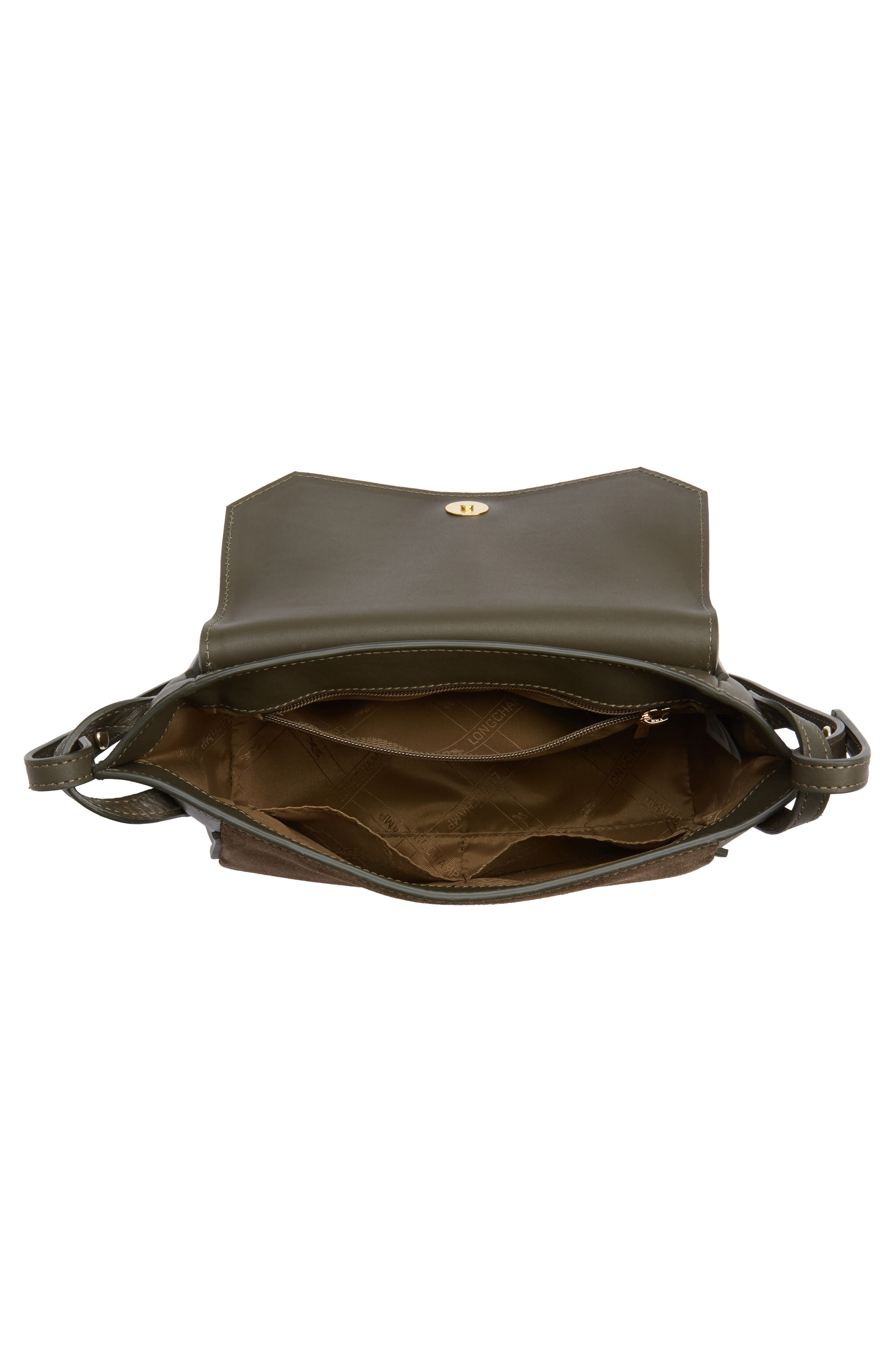 Alternate Image 3  - Longchamp Small Penelope Leather Crossbody Bag