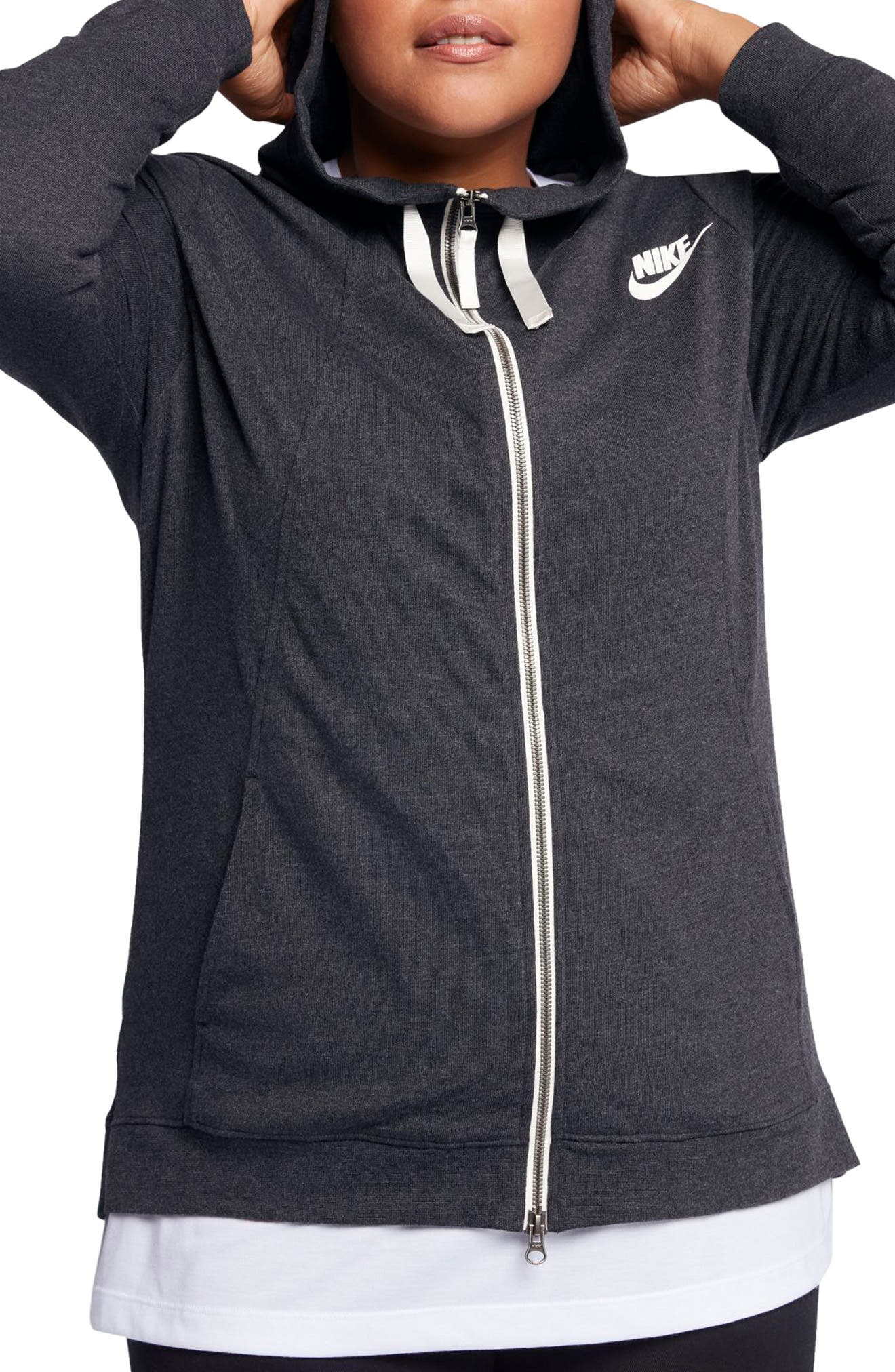 Alternate Image 1 Selected - Nike Sportswear Gym Classic Hoodie (Plus Size)