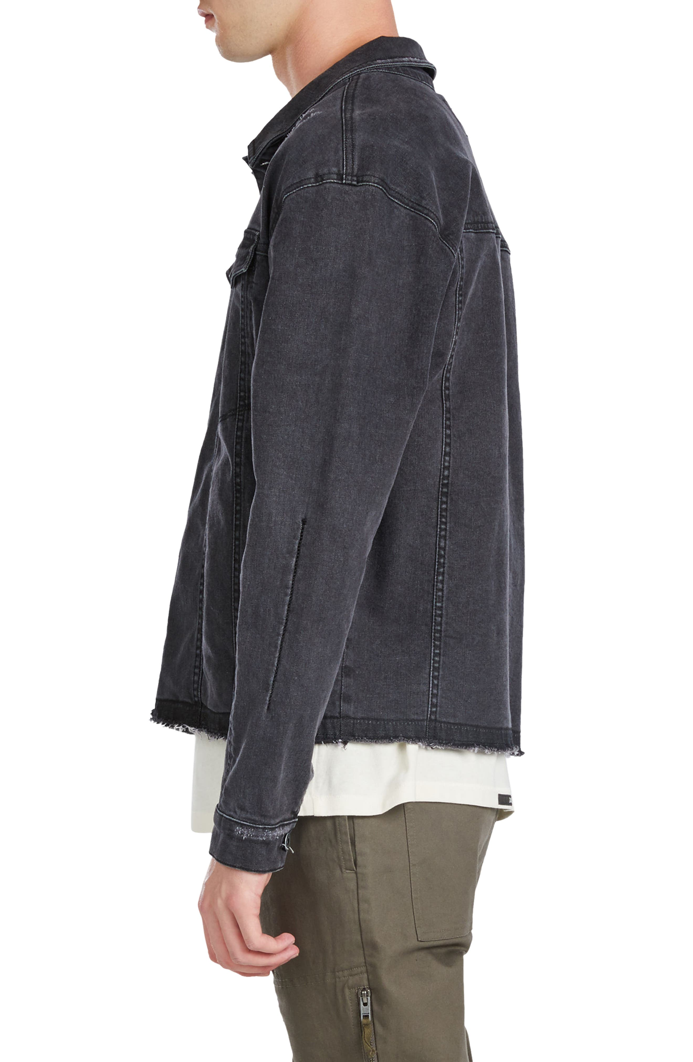 Snitch Denim Jacket,                             Alternate thumbnail 3, color,                             Black