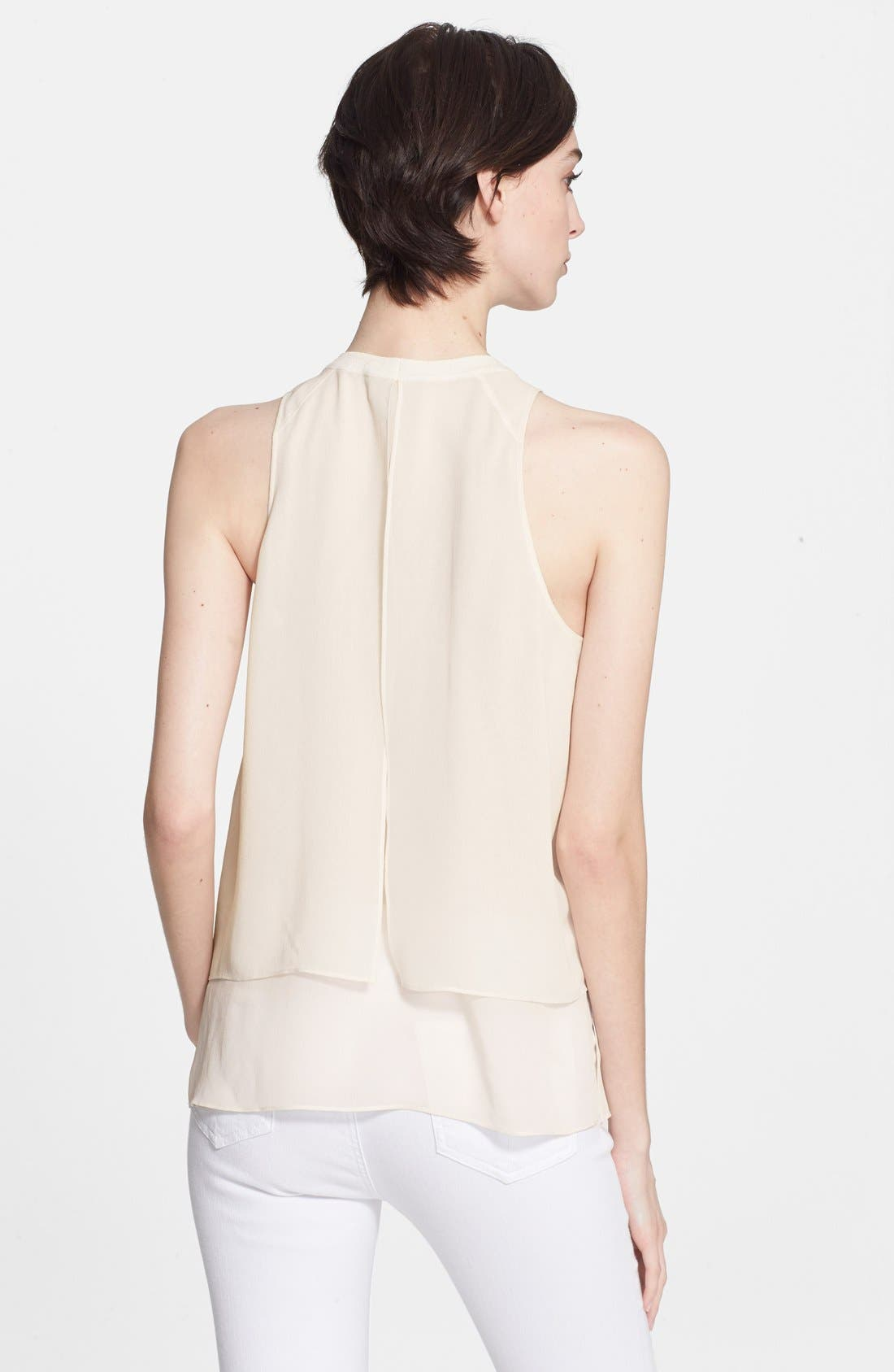 Alternate Image 2  - rag & bone 'Daria' Silk Georgette Tank