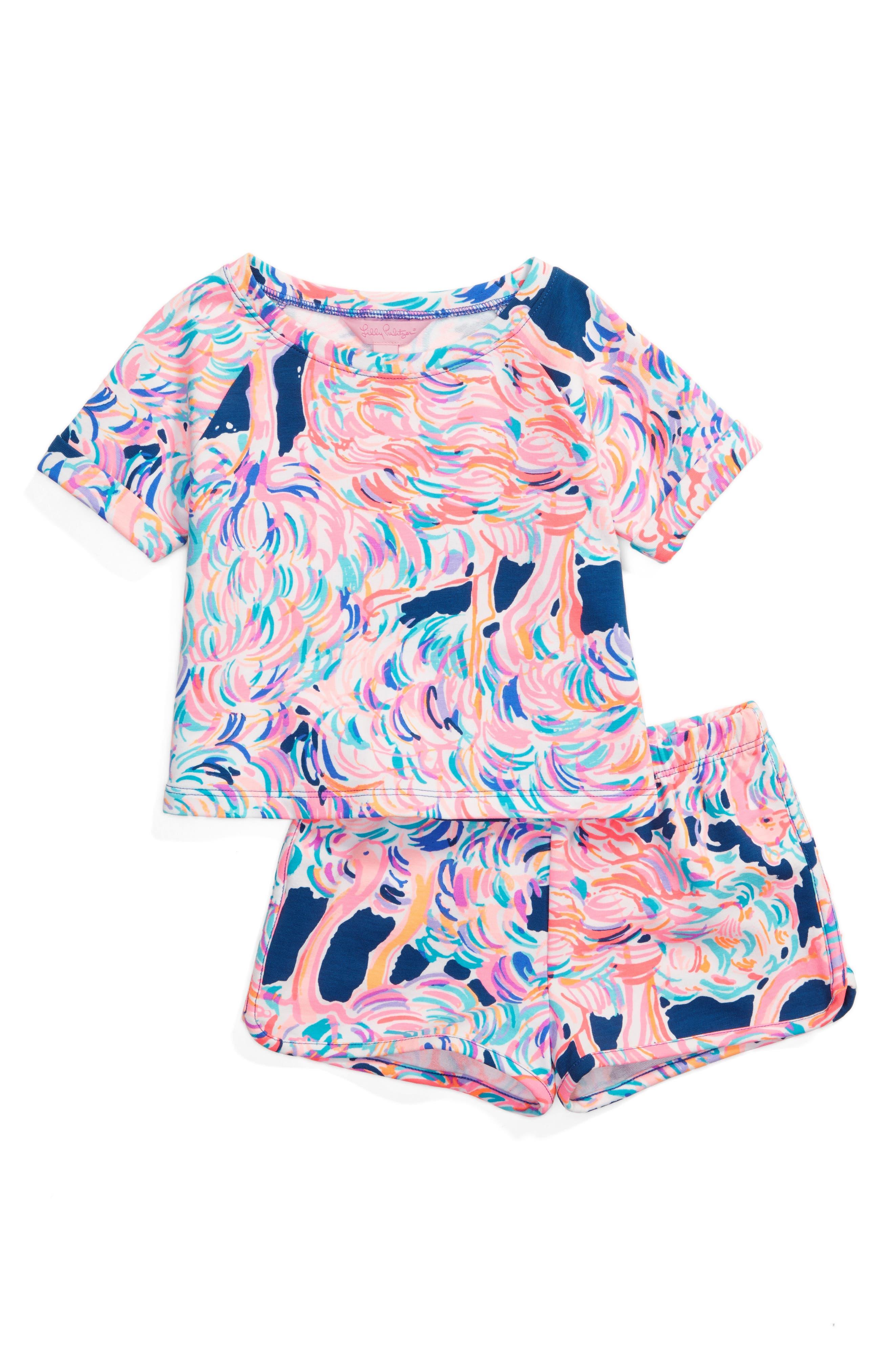 Lilly Pulitzer® Mini Dossie Top & Shorts Set (Toddler Girls, Little Girls & Big Girls)